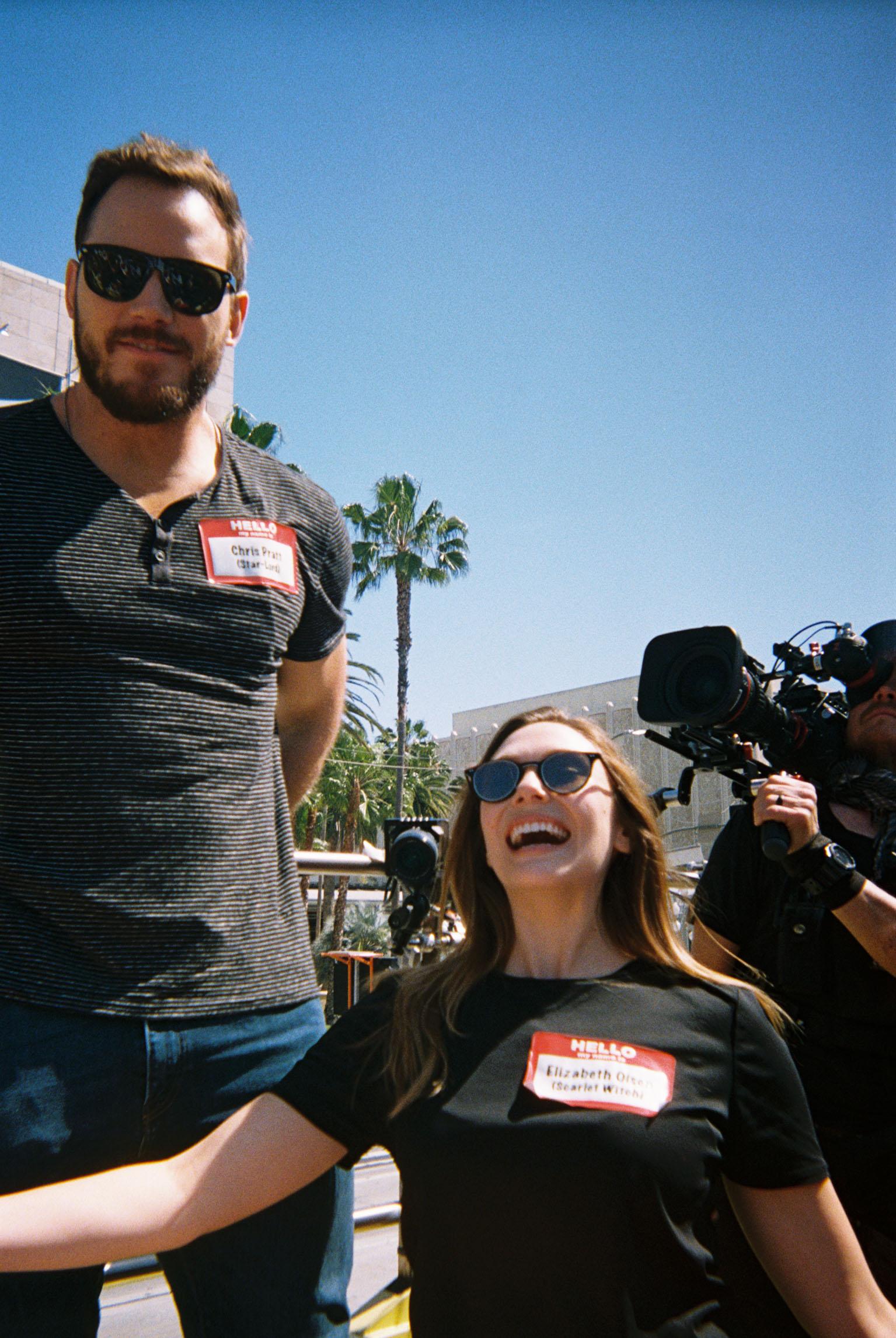 Chris Pratt and Elizabeth Olsen