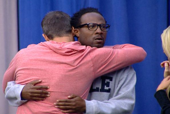 Jeff Hugs Lawon Goodbye