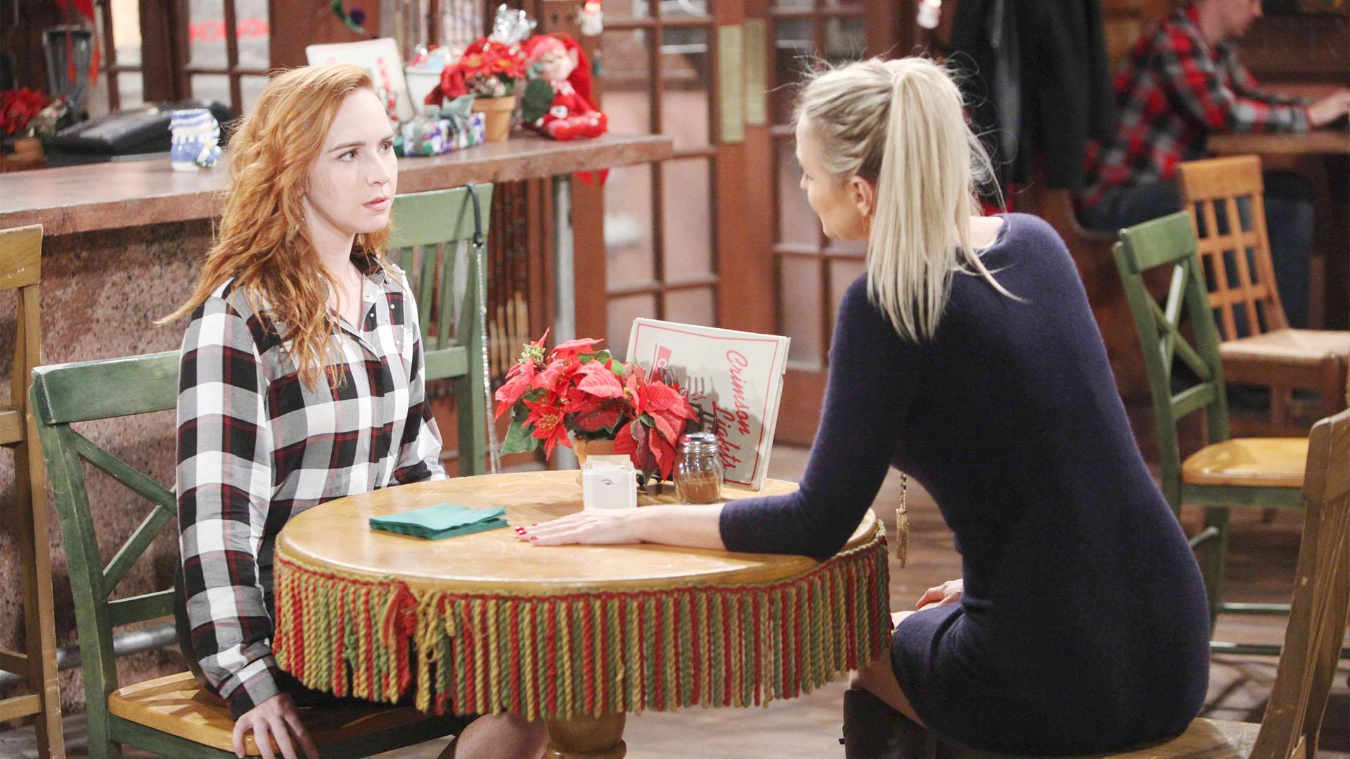 Mariah warns Sharon about Scott.