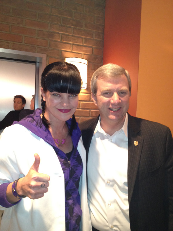 Pauley Perrette and Mark Clookie