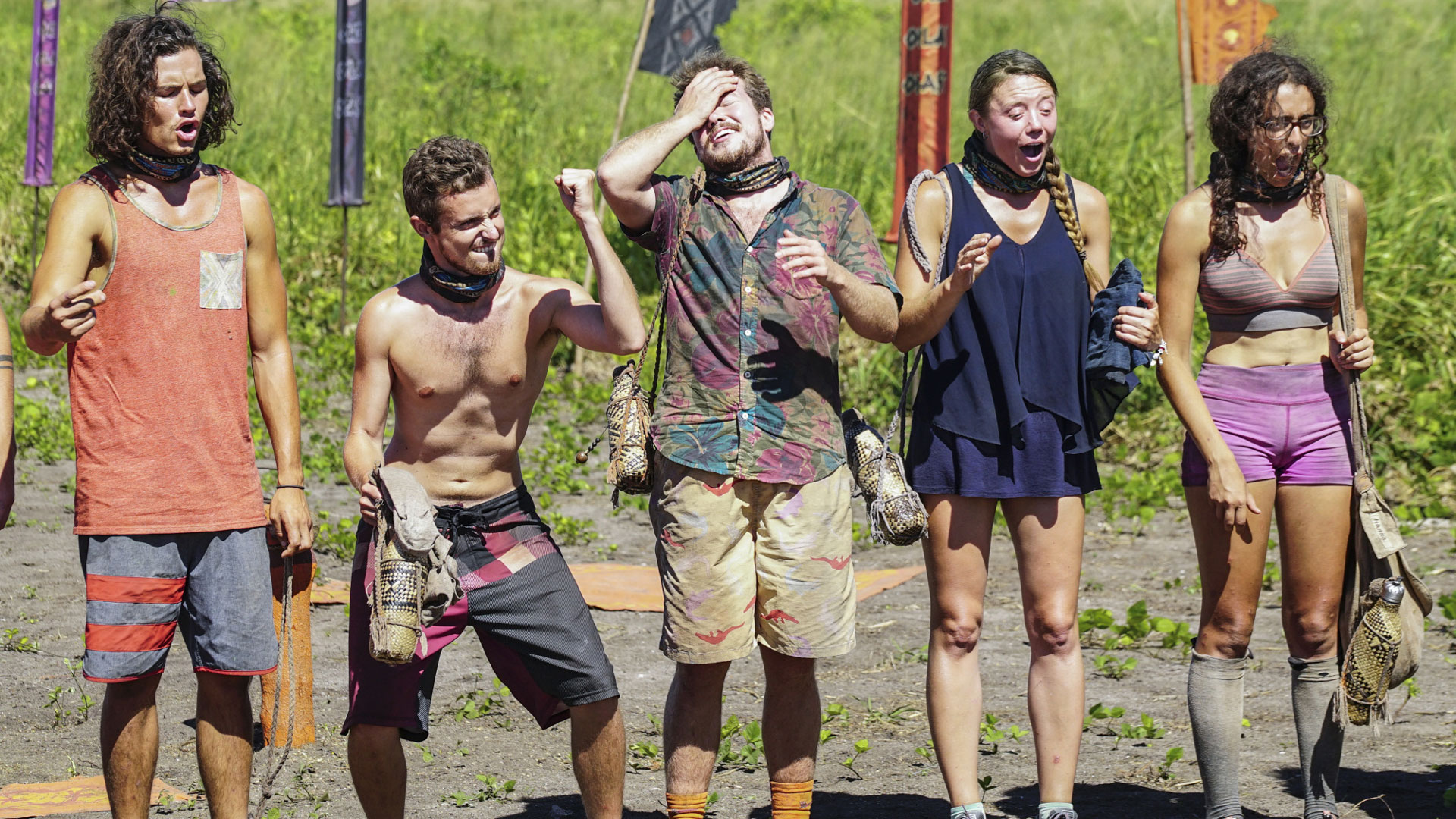 Which two castaways will be throwing punches after the merge?