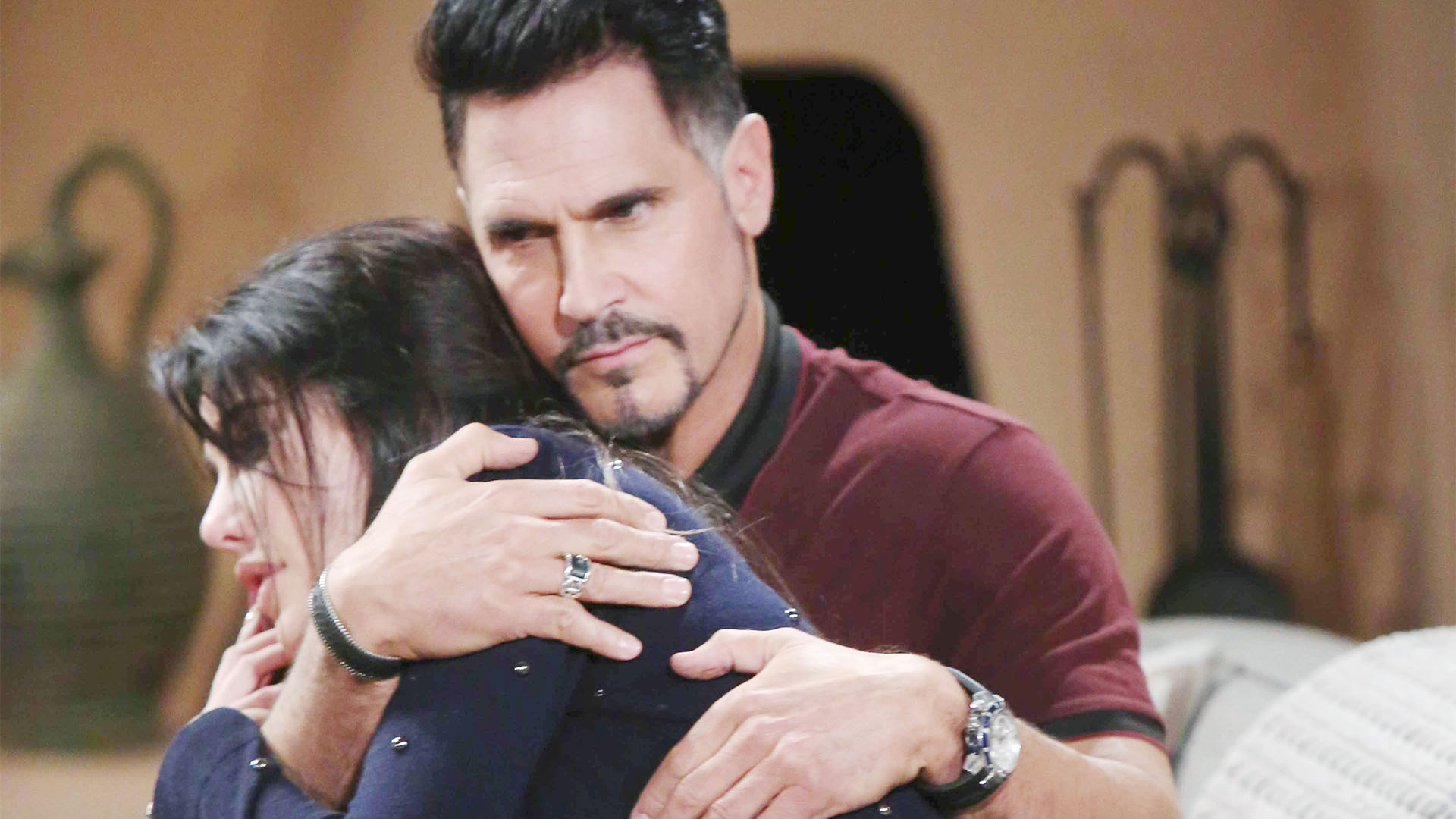Bill comforts Steffy in her time of need and gives her encouragement to expect more from the men in her life.