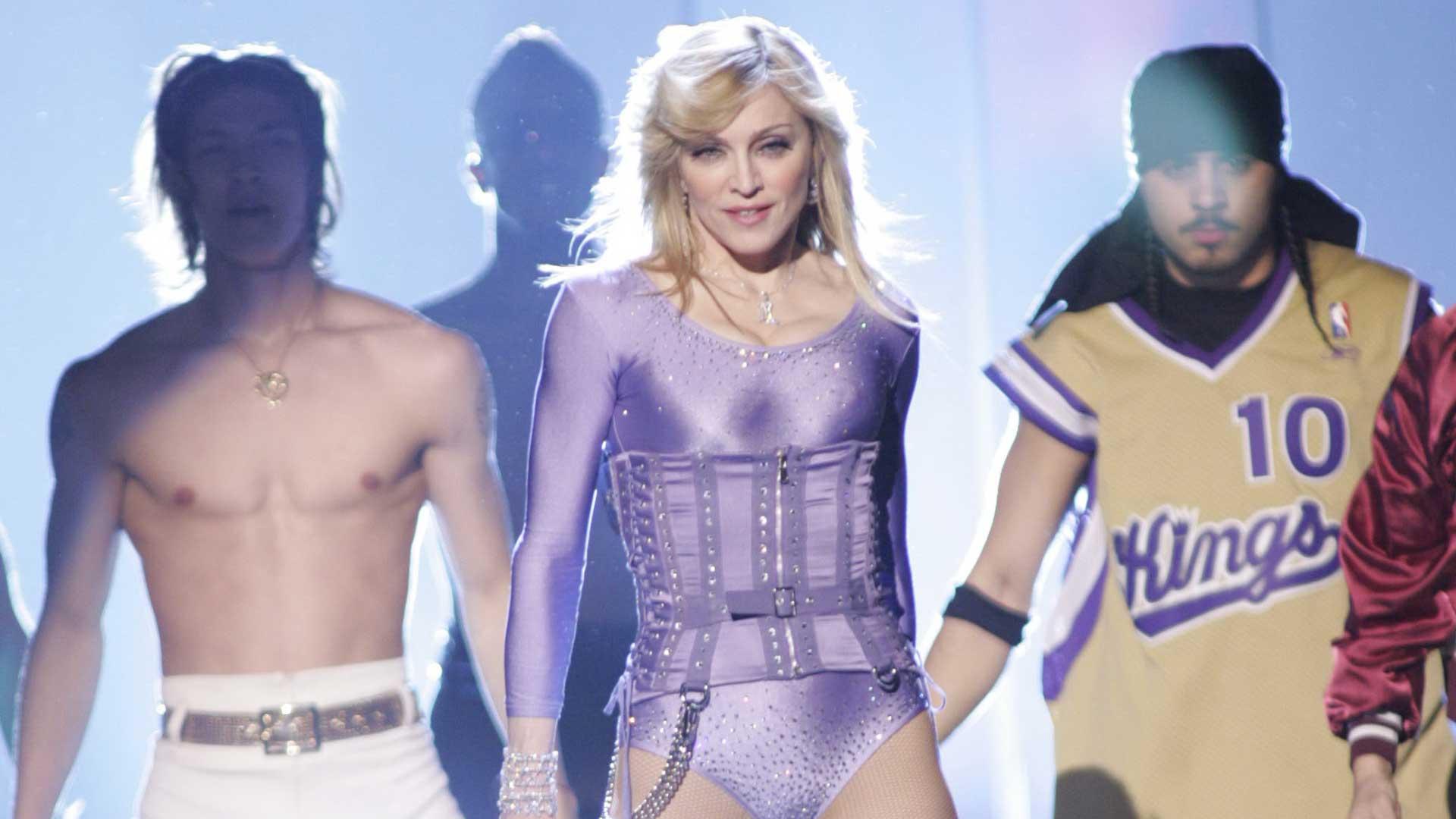 Madonna and Gorillaz perform