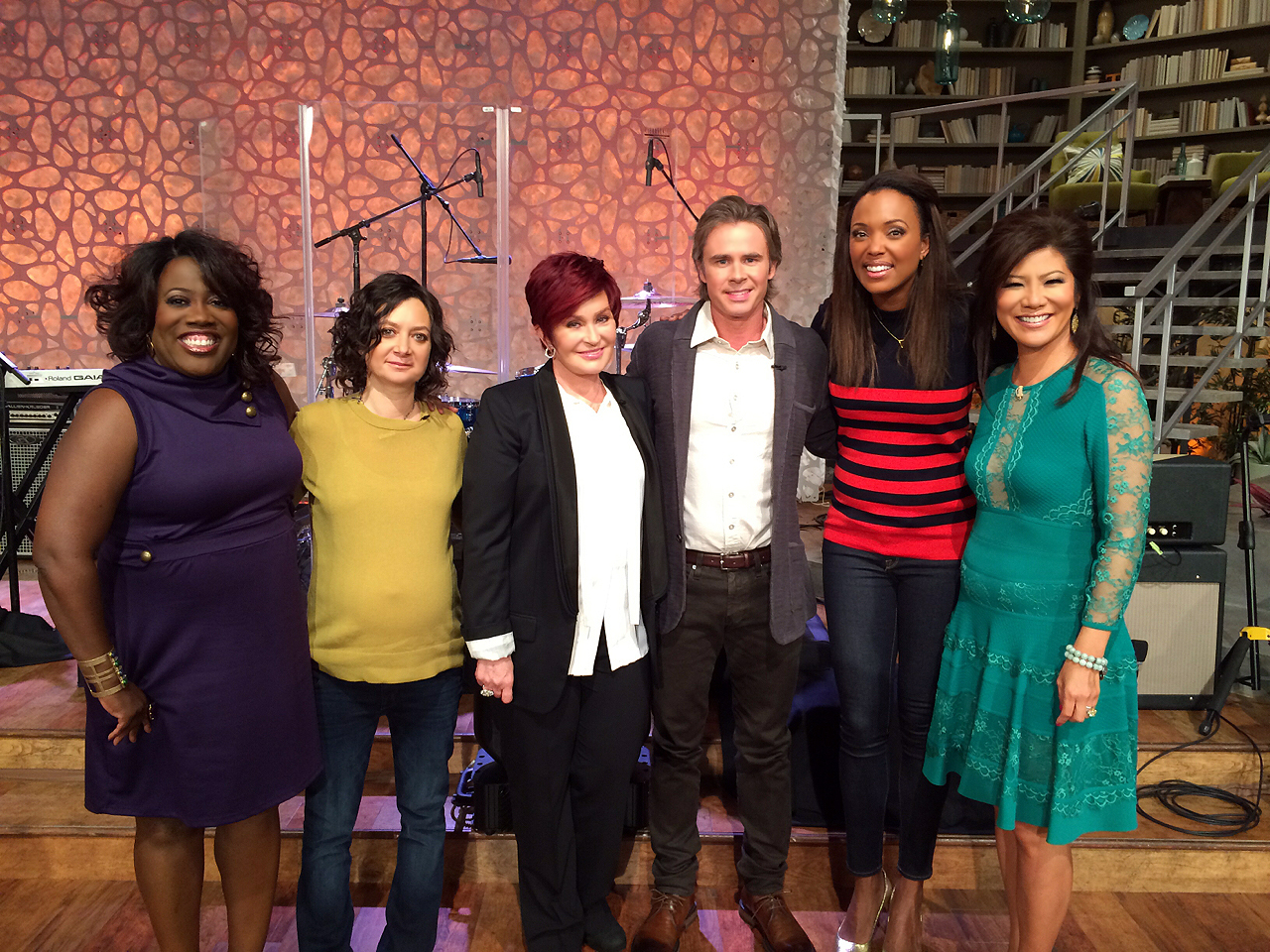 4. The ladies caught up with Sam Trammell.
