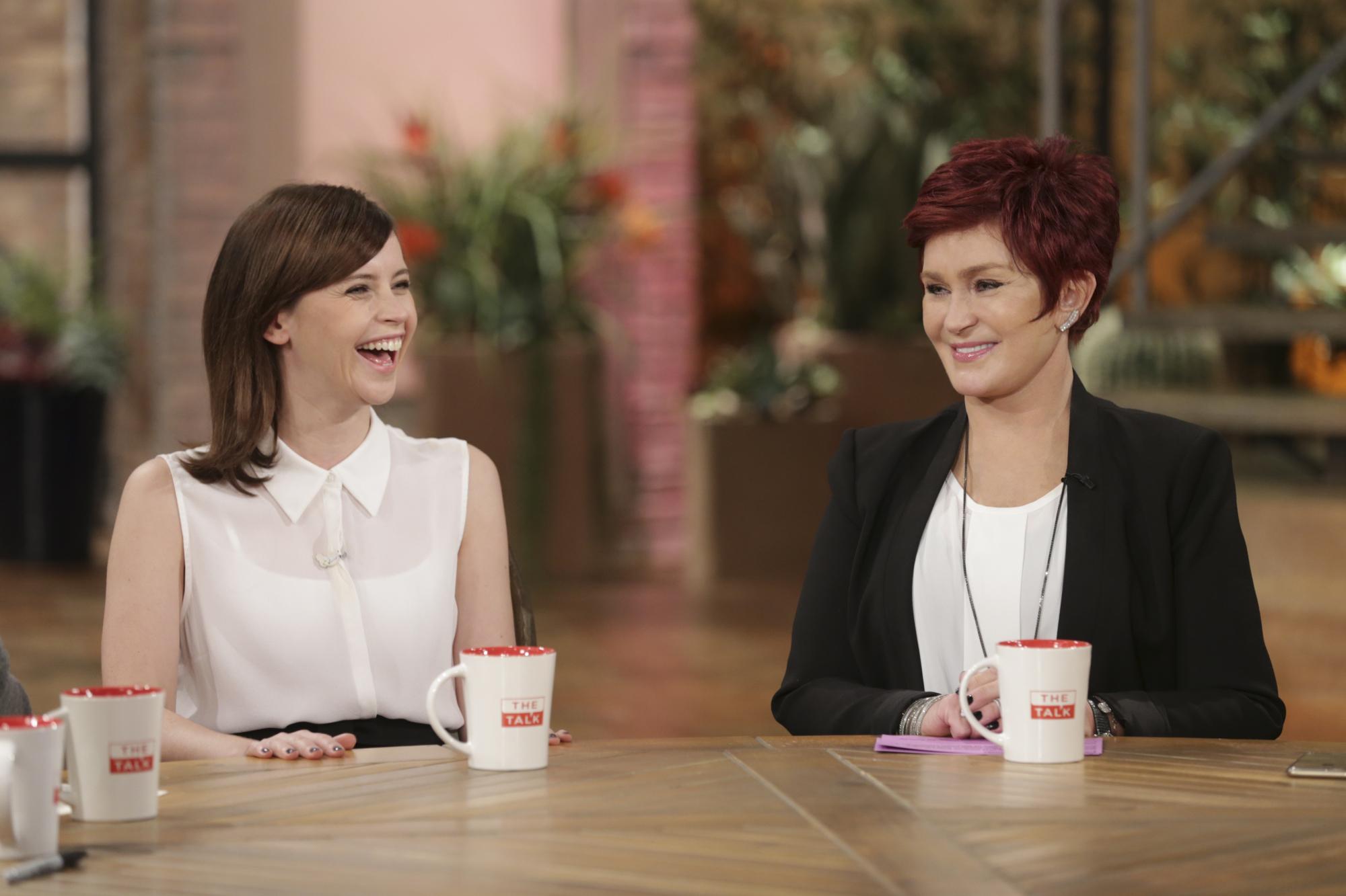 6. Sharon bonded with fellow Brit Felicity Jones.