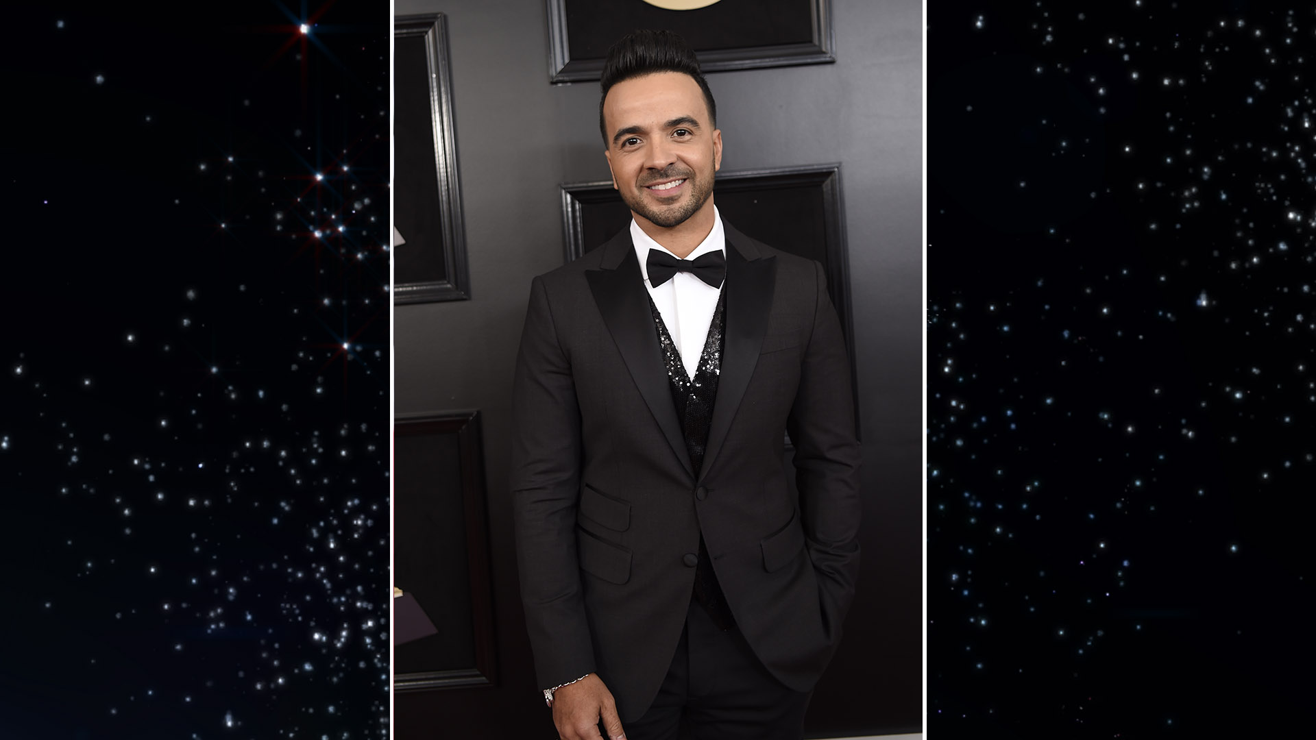 Luis Fonsi looks cool and collected before heating up the stage at Madison Square Garden.
