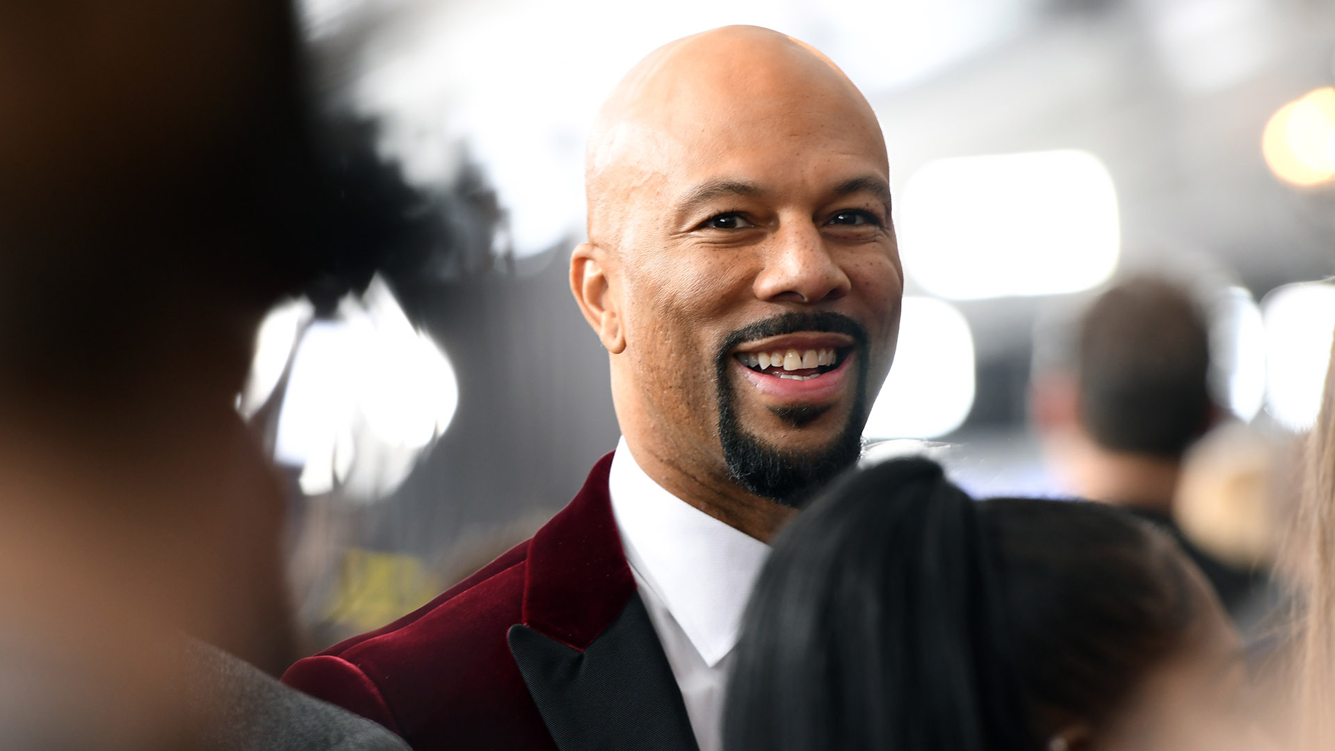 Actor/rapper Common joins one of the hottest fashion trends by wearing a merlot-colored velvet suit.