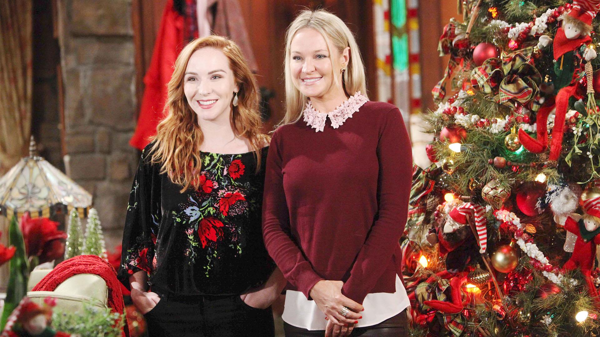 Mariah and Sharon create Christmas memories.