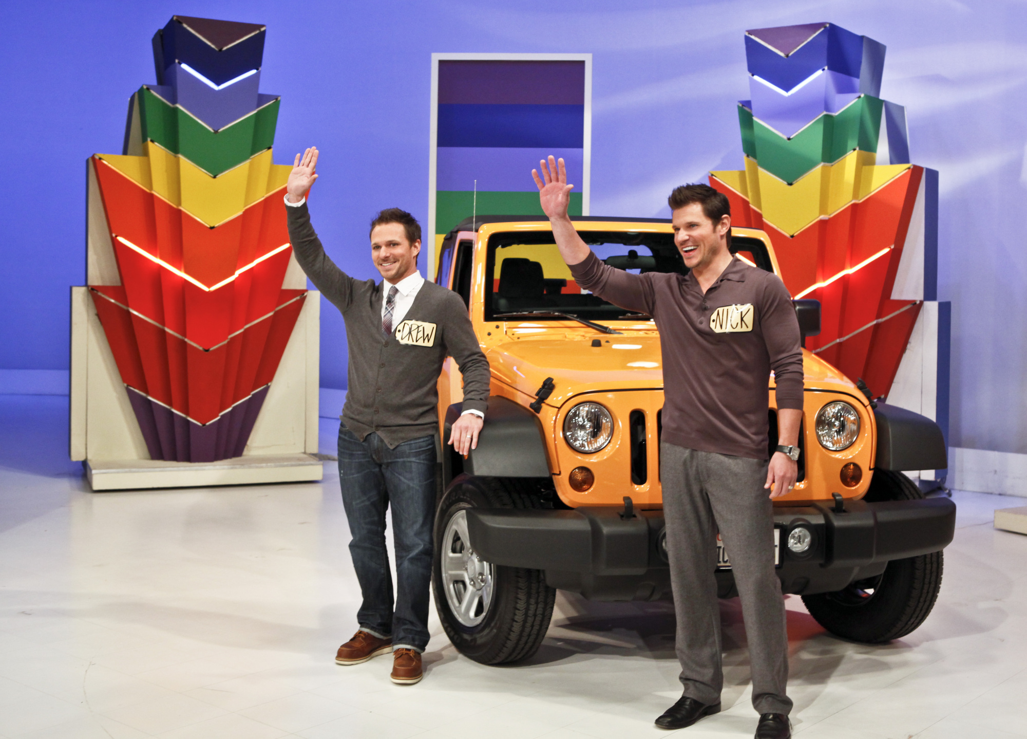 Nick and Drew with Jeep