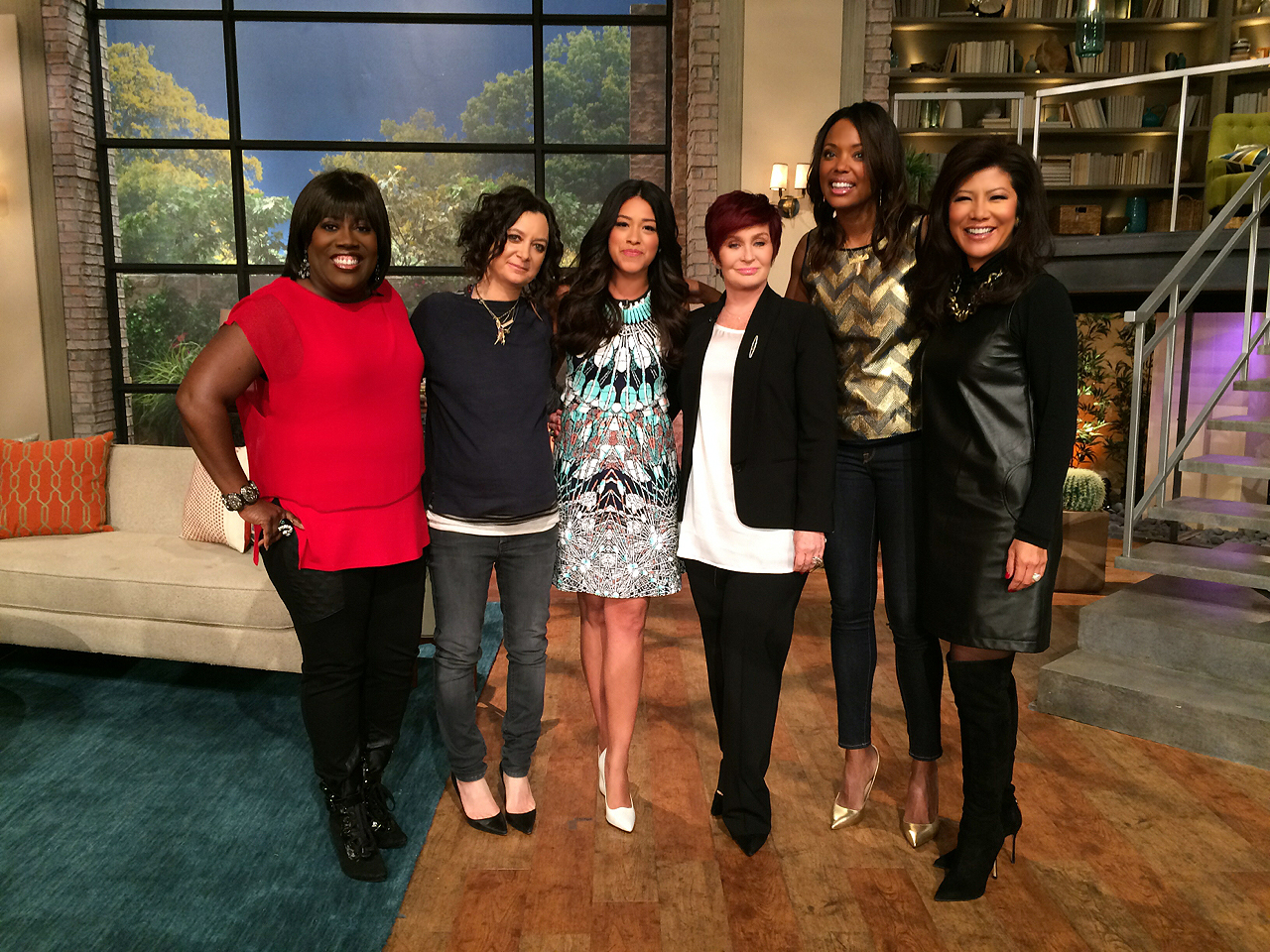 7. The ladies caught up with Gina Rodriguez.