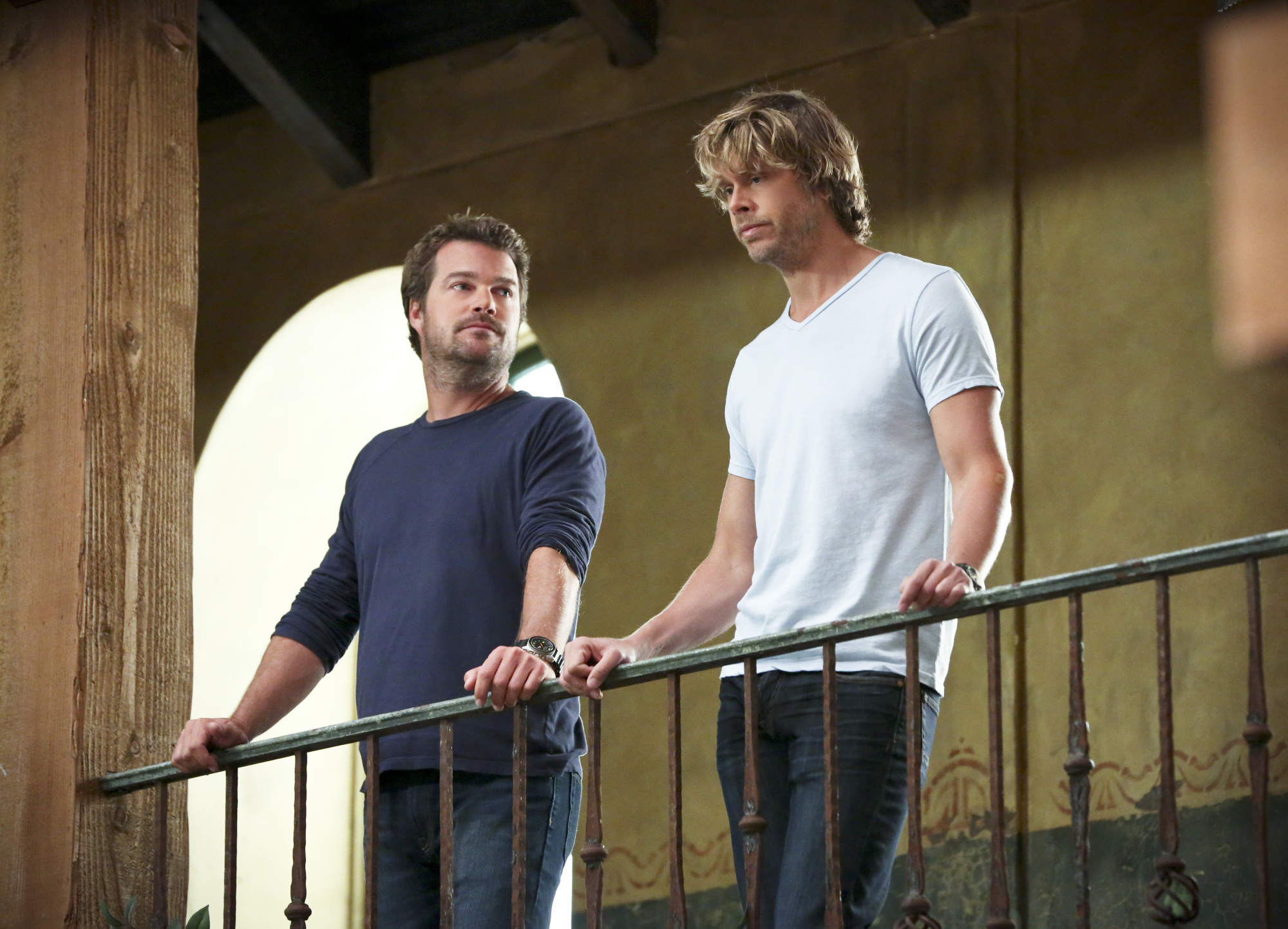 Chris O'Donnell as Special Agent G. Callen and Eric Christian Olsen as LAPD Liaison Marty Deeks.