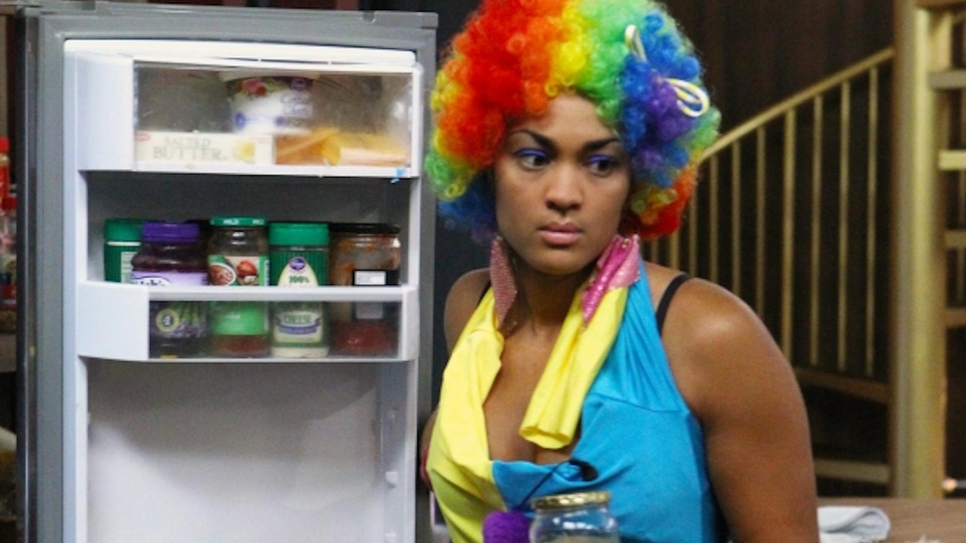 Candice Stewart's clown unitard
