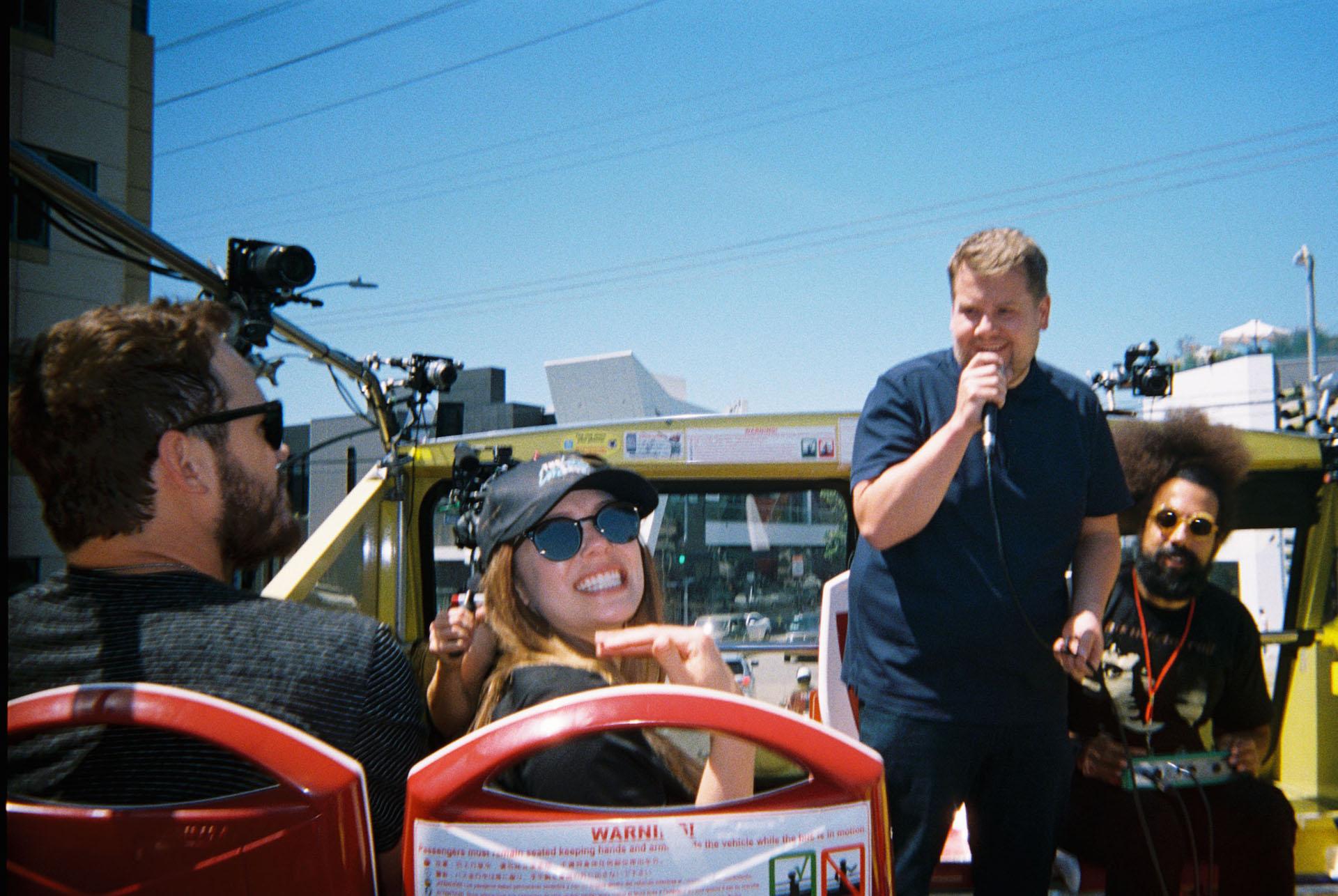 Chris Pratt, Elizabeth Olsen, James Corden and Reggie Watts