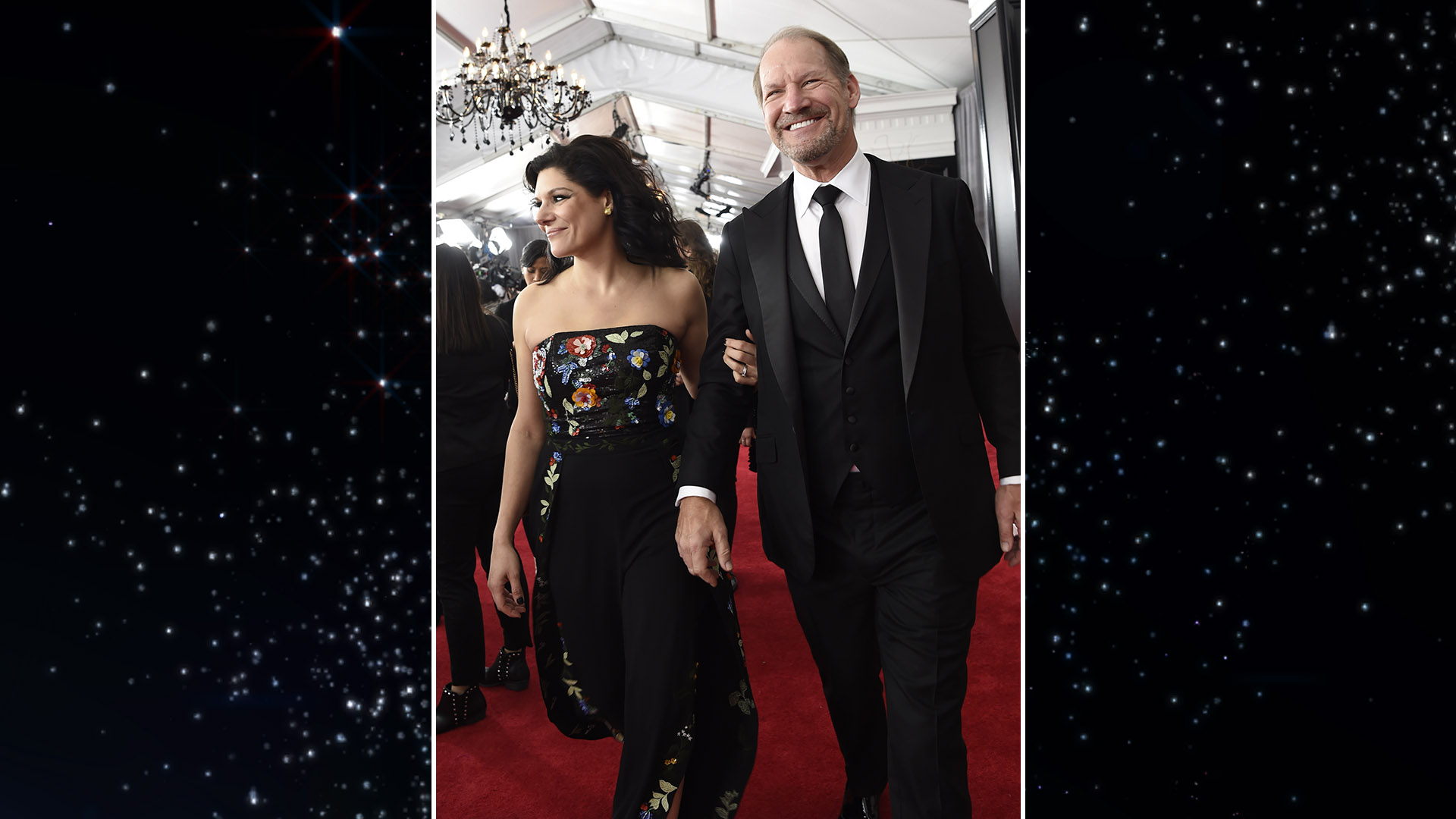 Former Pittsburgh Steelers coach Bill Cowher makes his way into Madison Square Garden for the 60th Annual GRAMMY Awards.