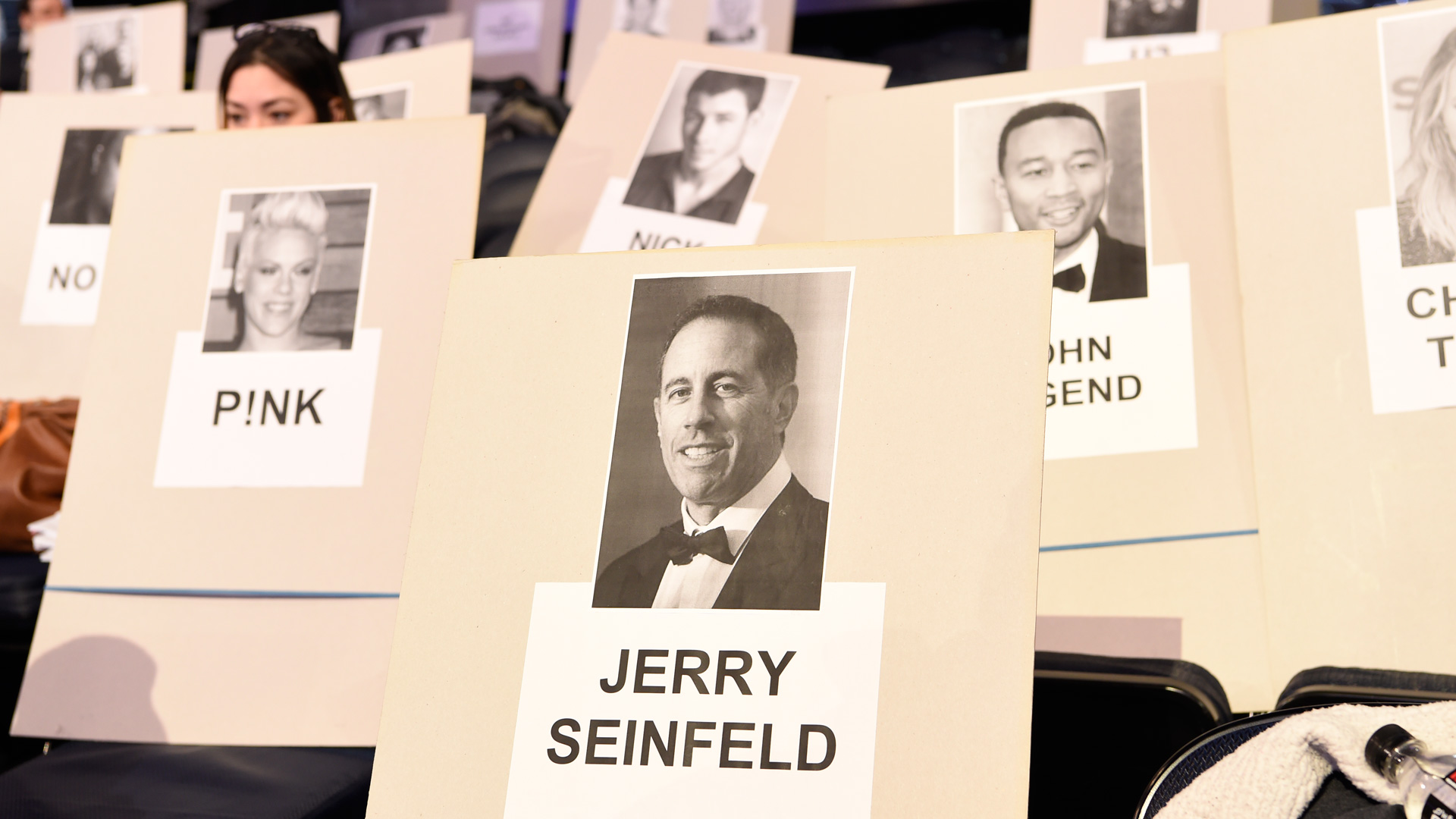 P!nk, who is set to perform this year, will be seated right behind comedian/actor Jerry Seinfeld.