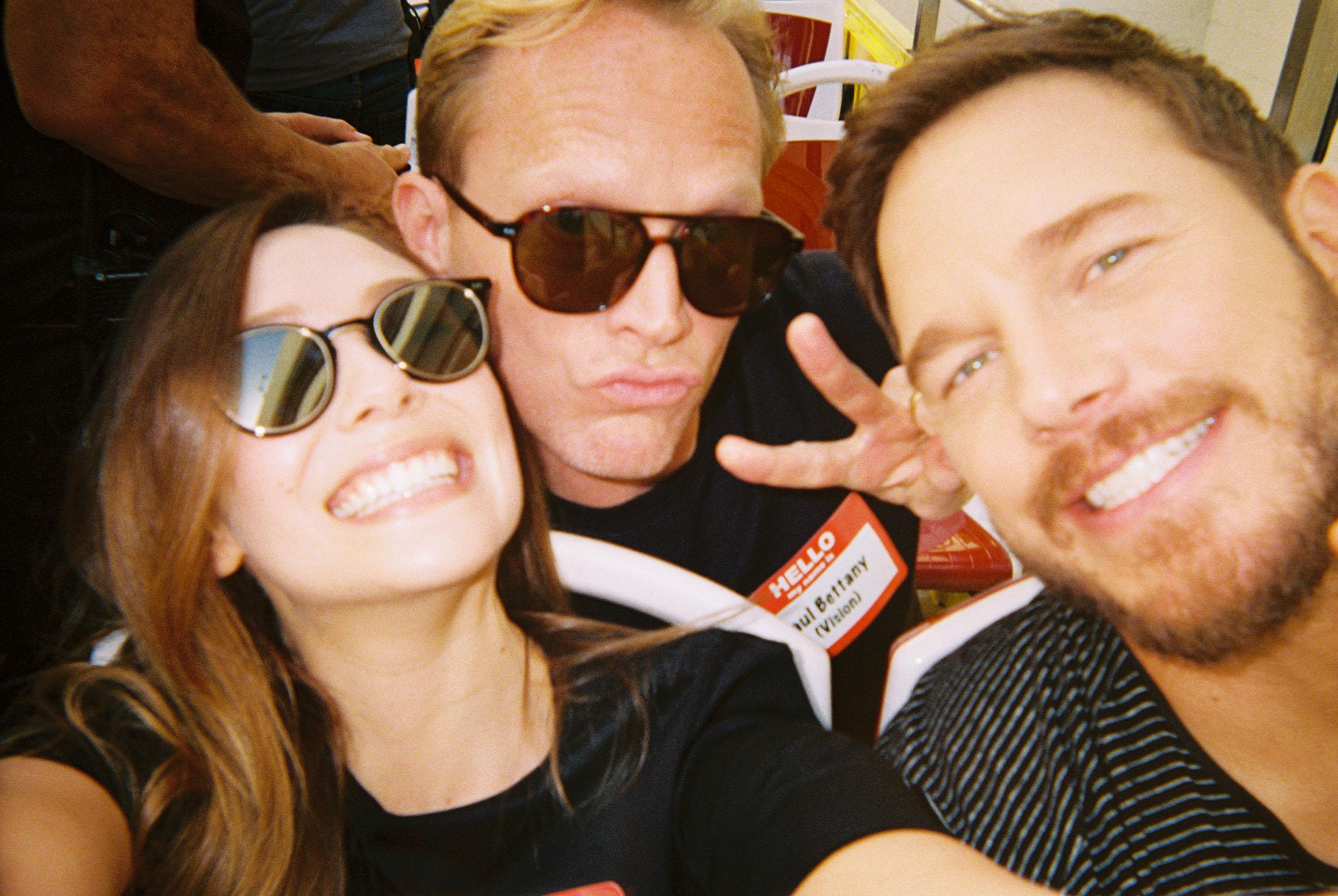 Elizabeth Olsen, Paul Bettany and Chris Pratt