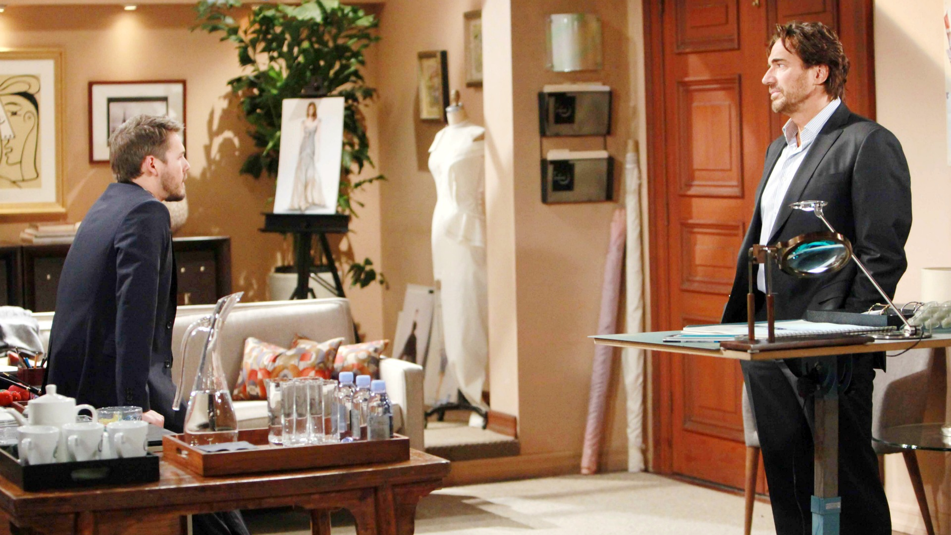 Liam pressures Ridge to follow through with his plan to rid their lives of Quinn.