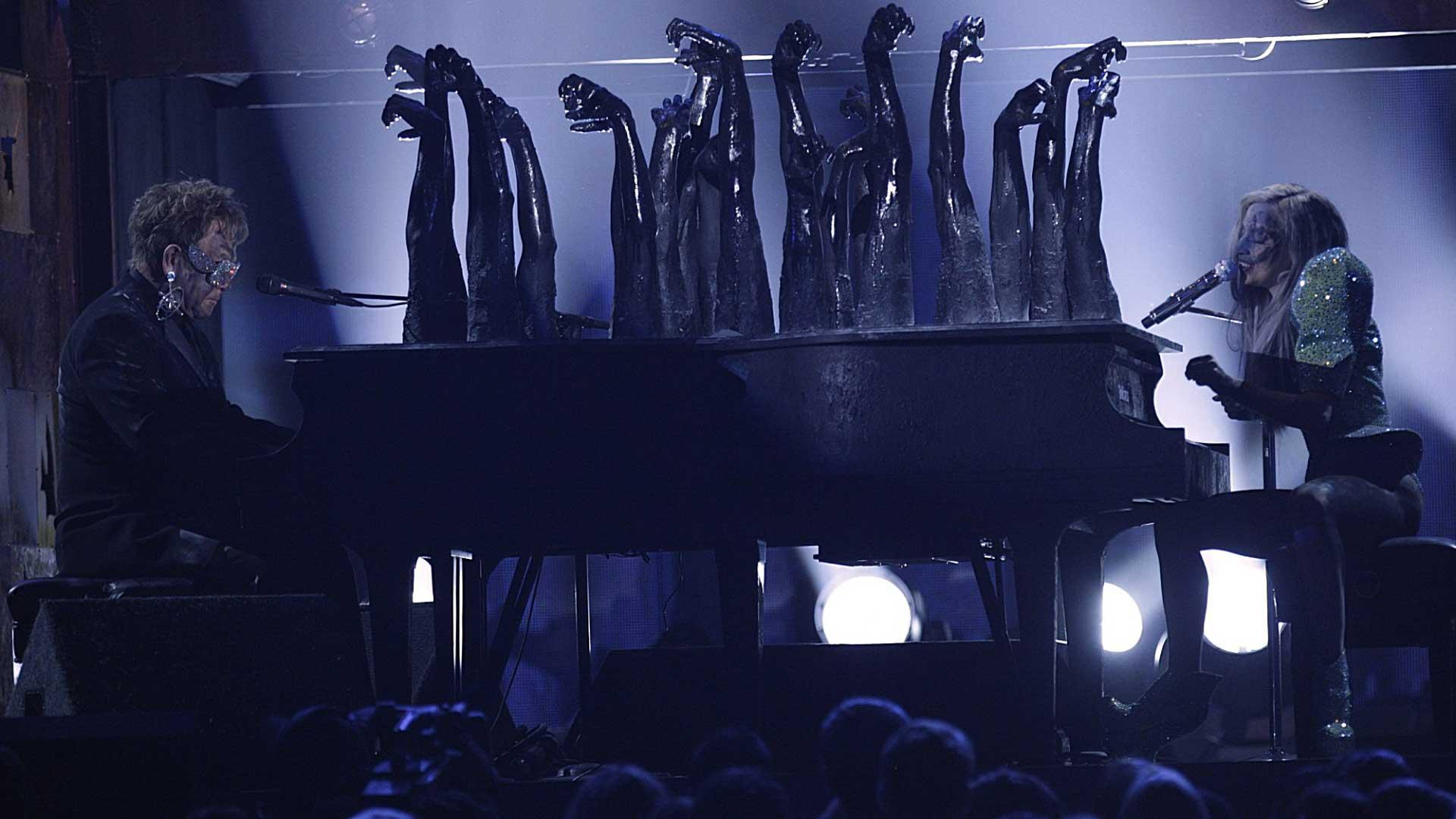 Elton John and Lady Gaga perform