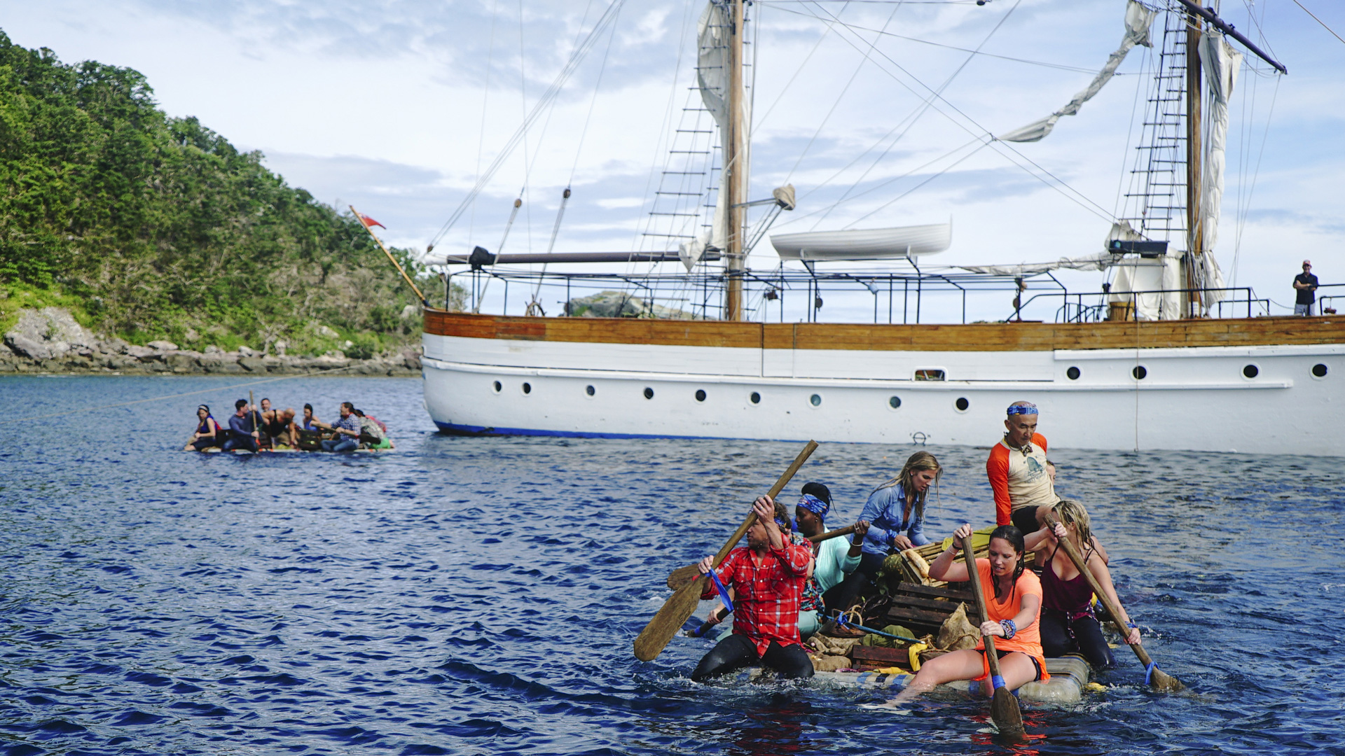 Here are some photos from the season premiere episode of Survivor: Game Changers entitled