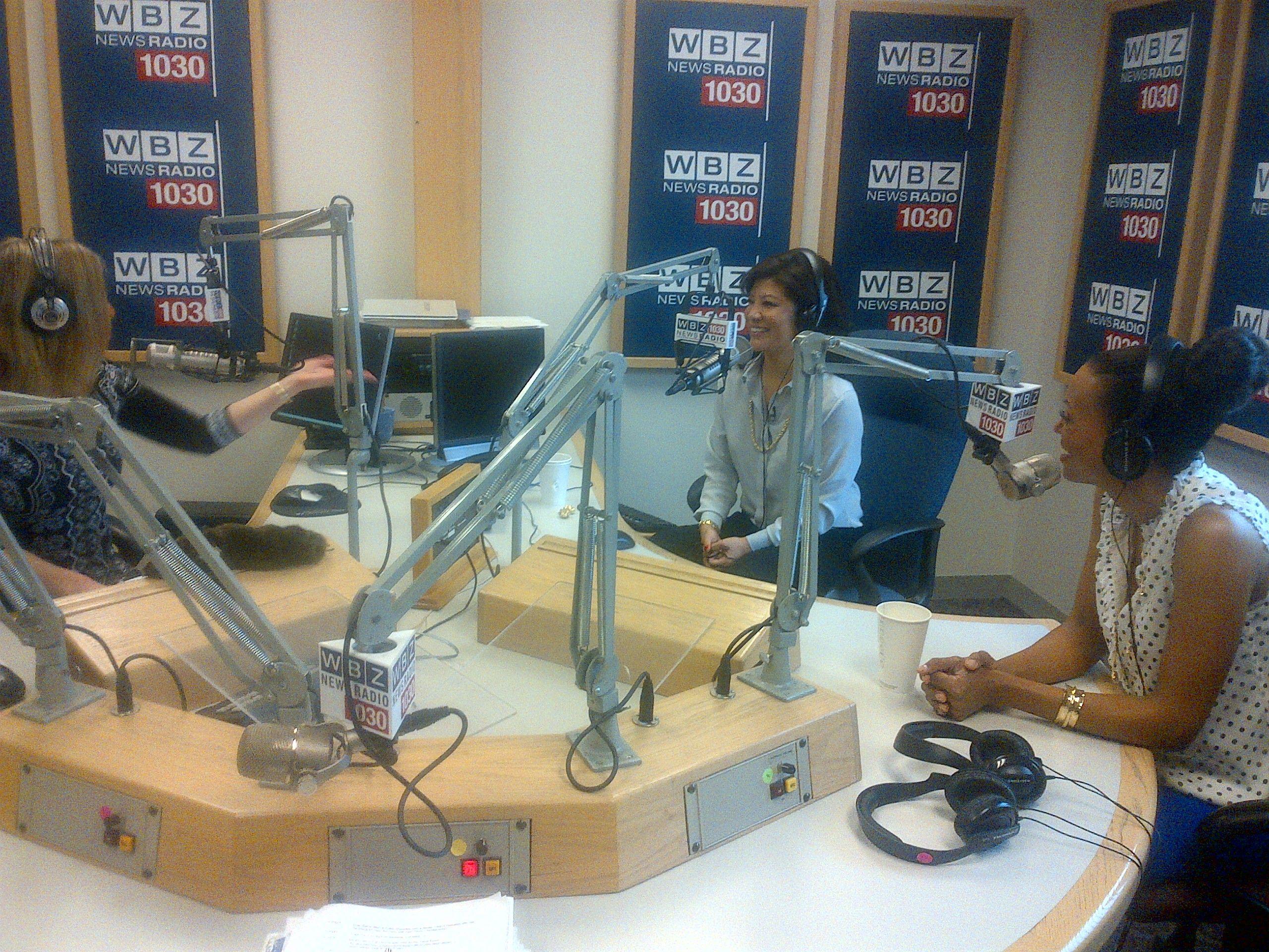Aisha & Julie on air in Boston!