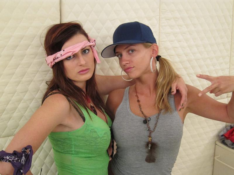 Rachel and Porsche Looking Tough