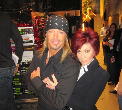 Sharon Osbourne & Bret Michaels Backstage!