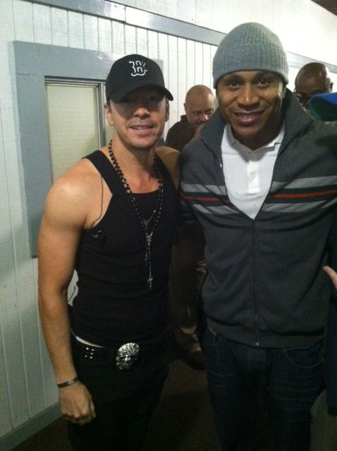 Donnie Wahlberg Tweets With LL Cool J