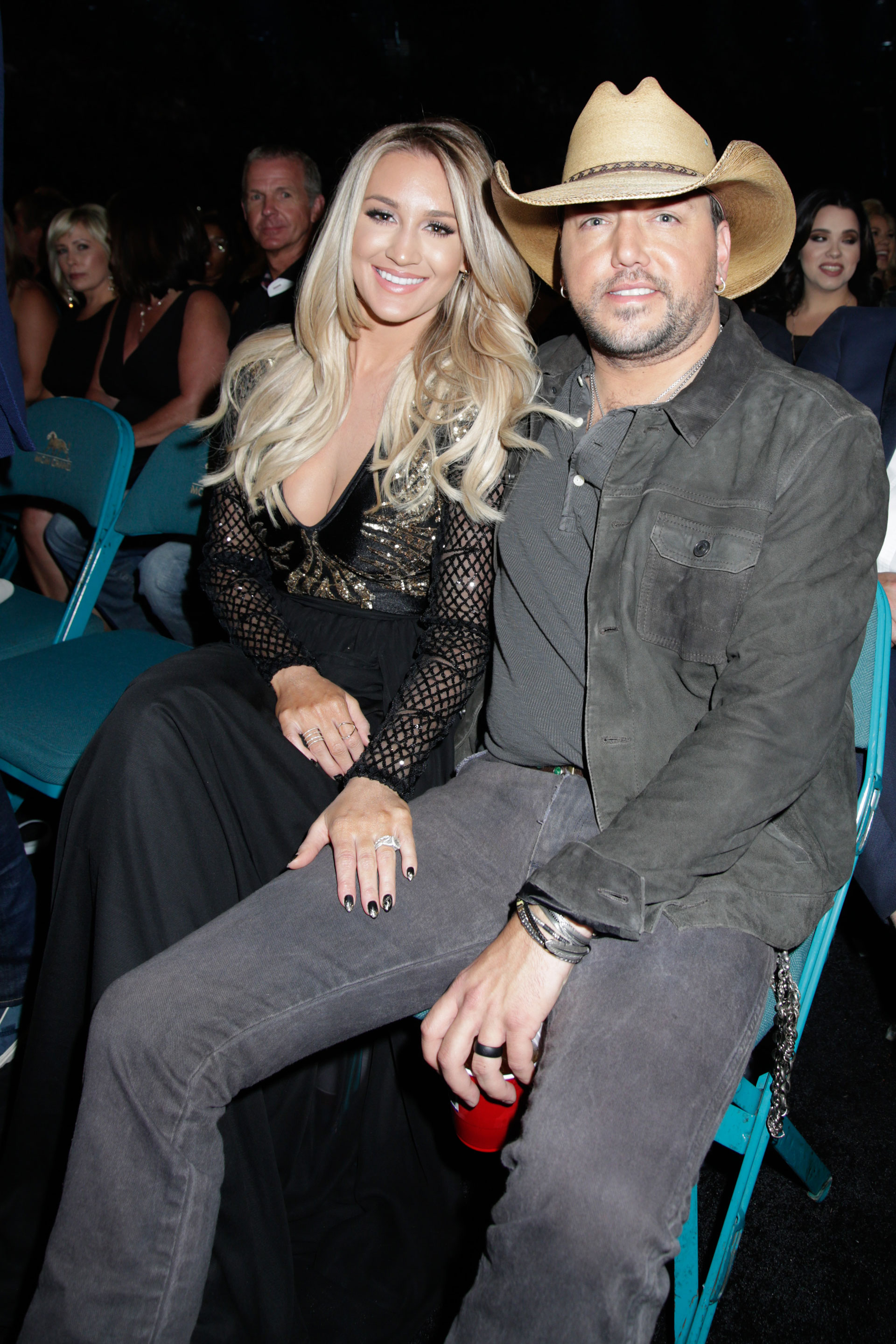 Before Jason Aldean won the 2016 ACM Award for Entertainer Of The Year, he posed with his wife, Brittany Kerr.