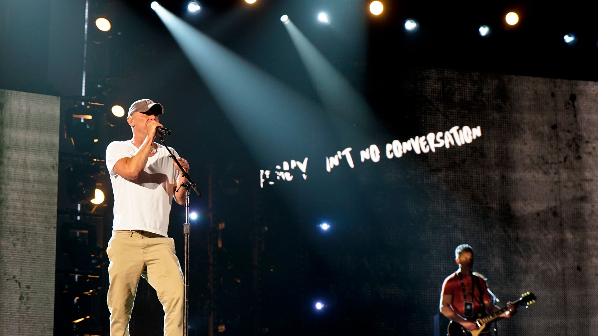 Kenny Chesney tries to silence all the