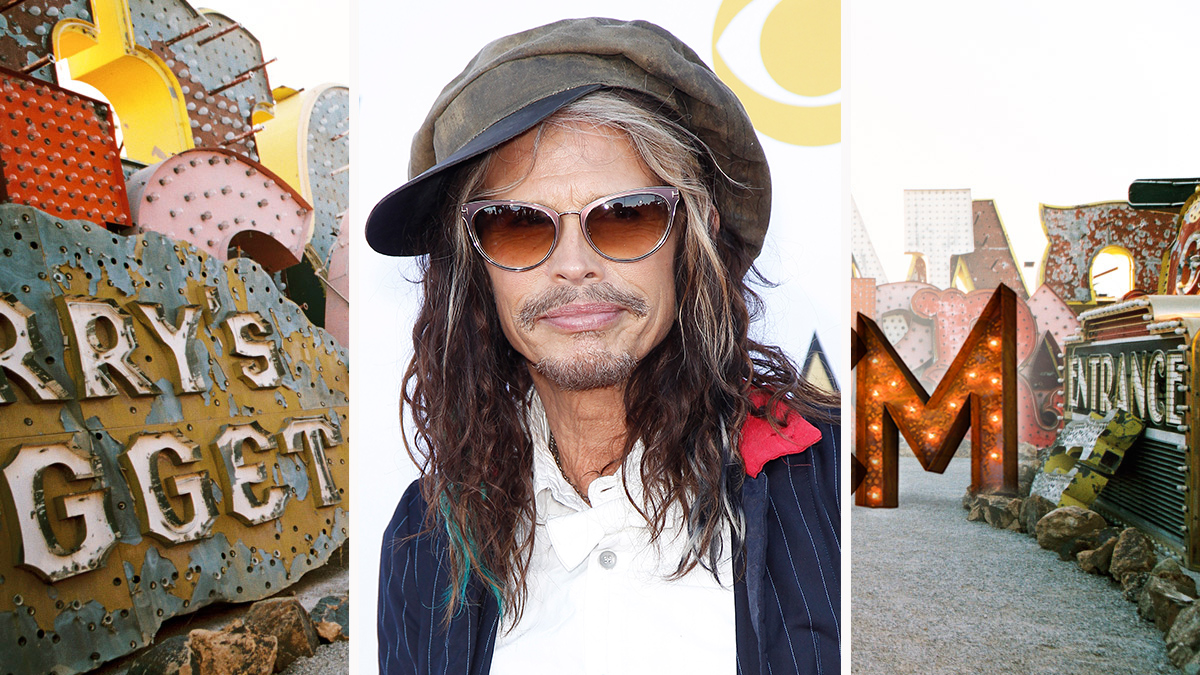 Steven Tyler experiments with multi-colored waves.