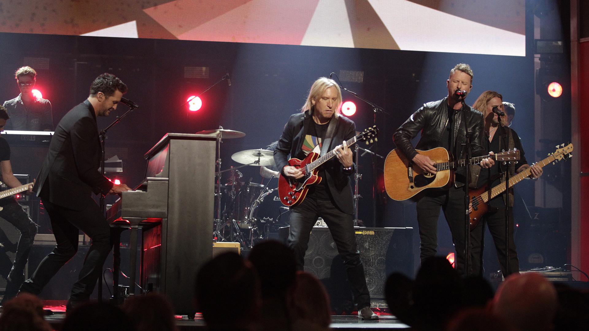 Joe Walsh, Dierks Bentley, and Luke Bryan perform