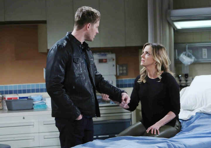 Sage begs Adam to believe her.