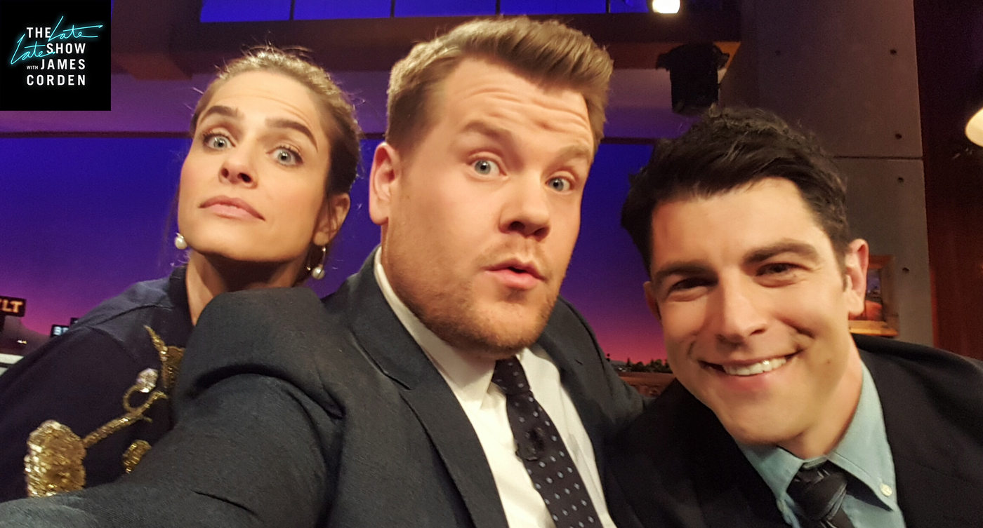Amanda Peet and Max Greenfield
