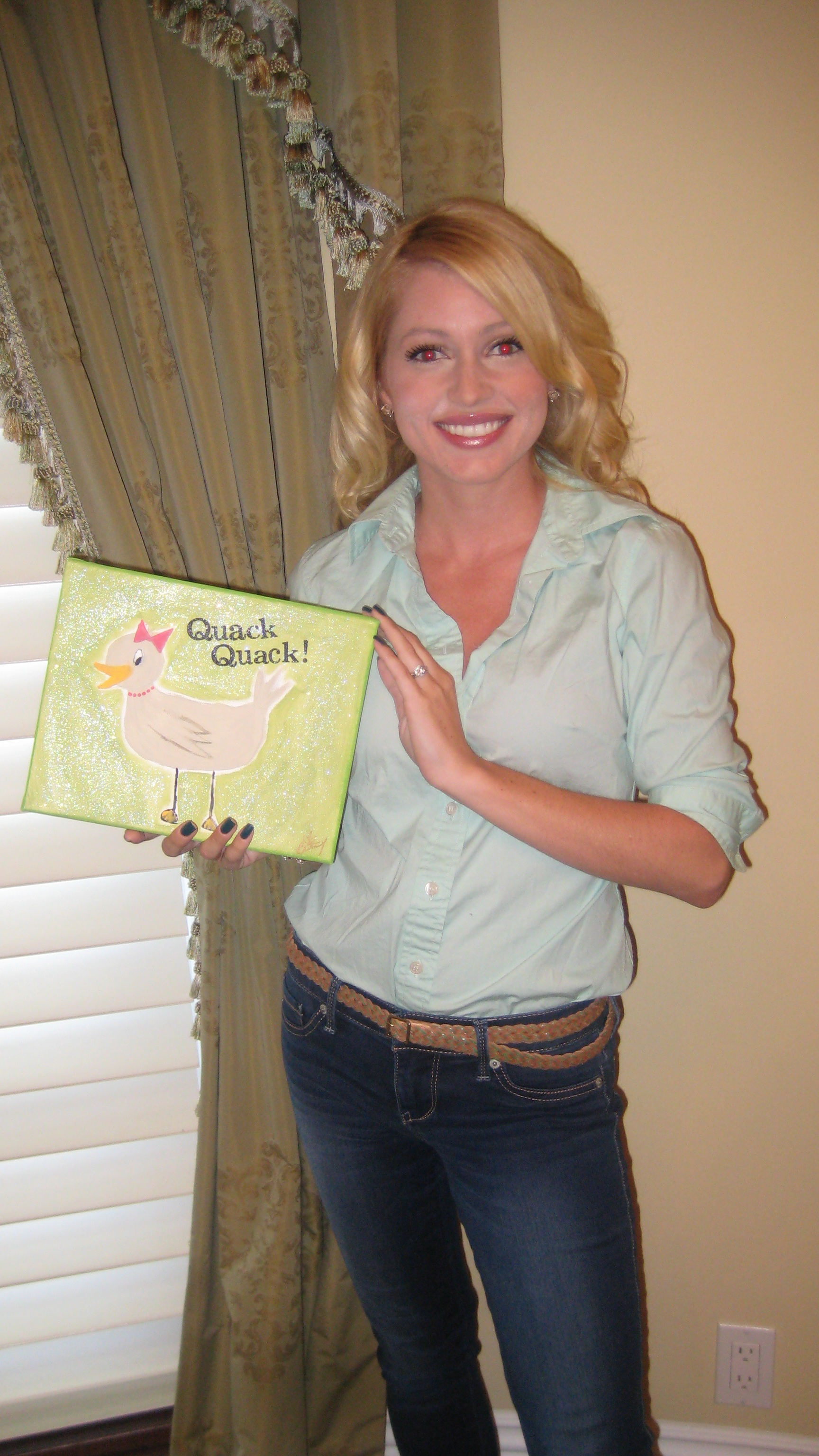 Britney and her Painting
