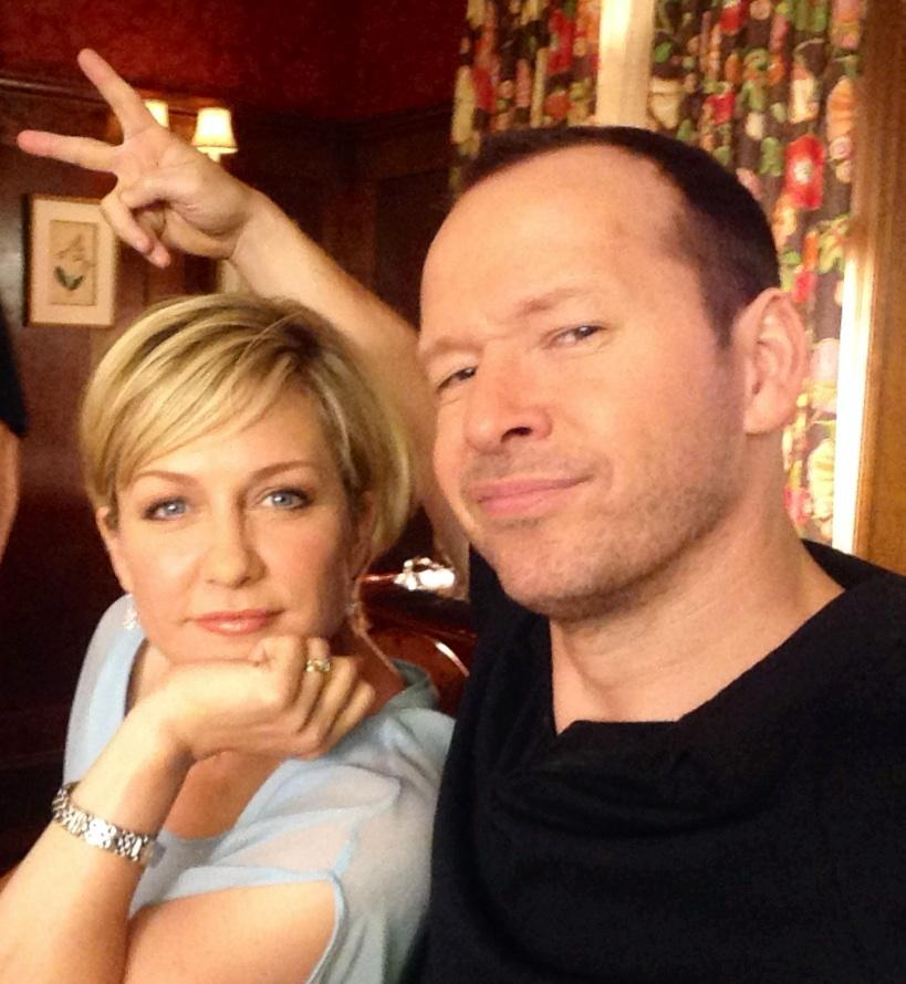 Amy Carlson and Donnie Wahlberg