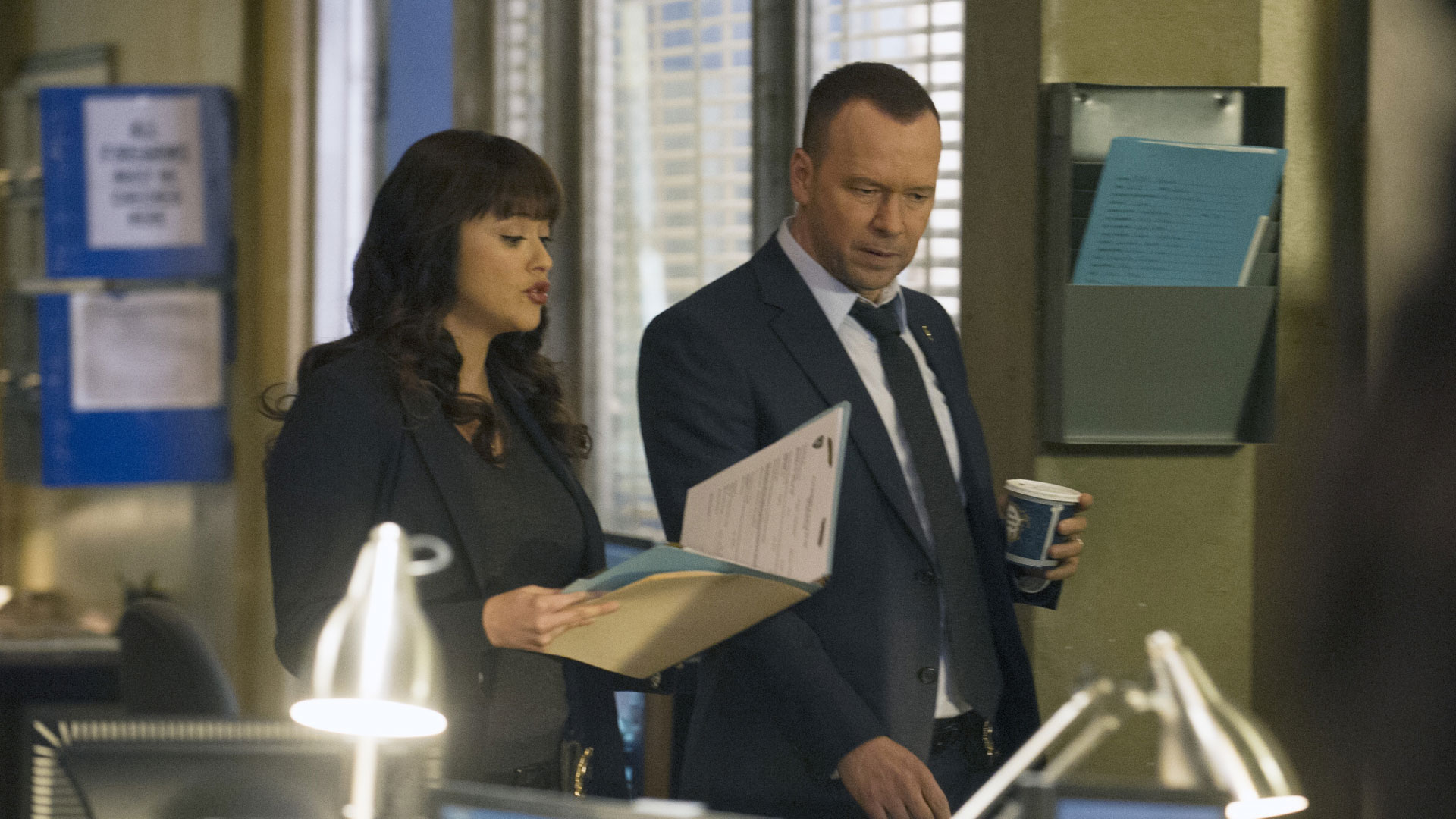 Marisa Ramirez as Detective Maria Baez and Donny Wahlberg as Detective Danny Reagan