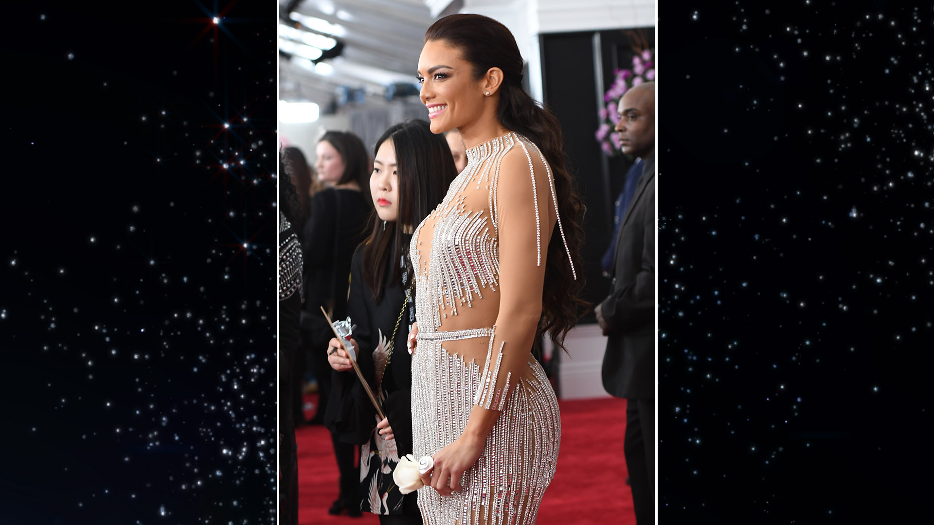 Former Miss Universe Zuleyka Rivera, who is featured in the music video for