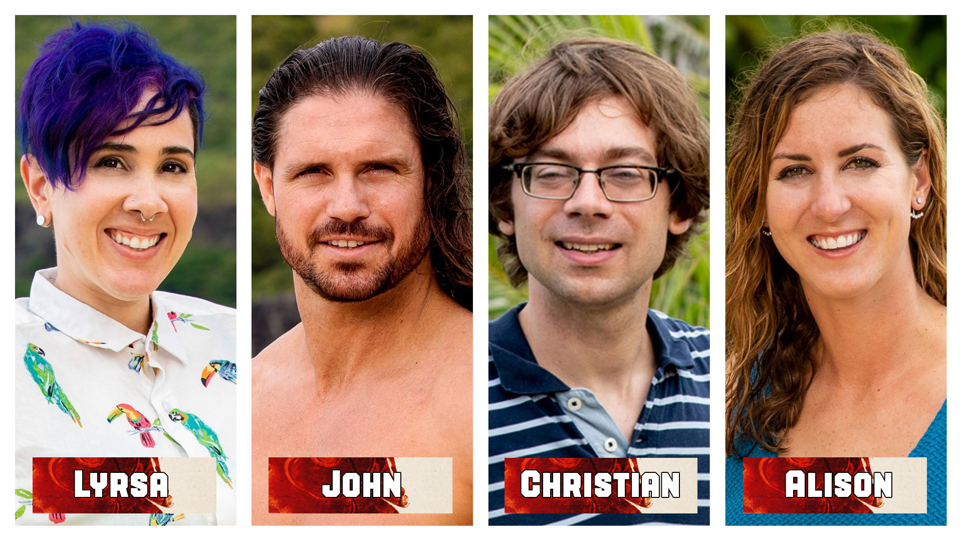 Which castaway successfully completed the slide puzzle in the very first Reward Challenge?