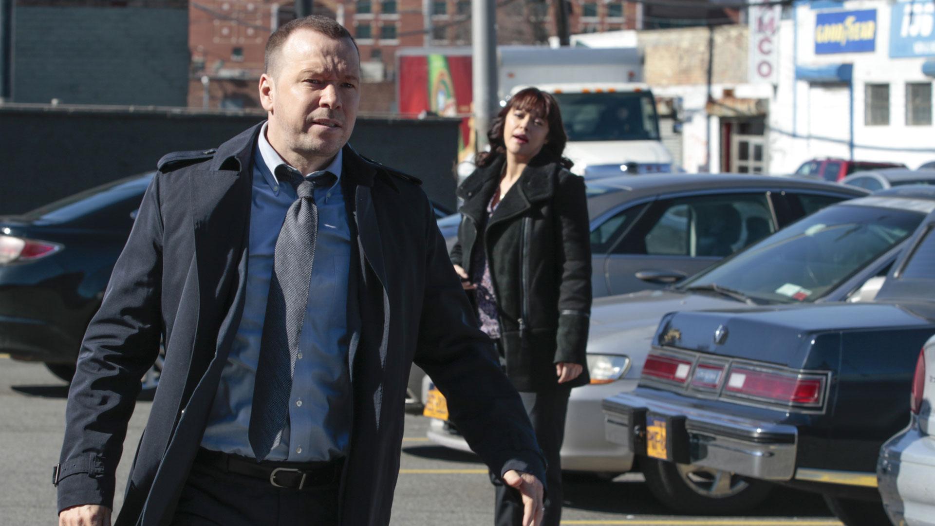 Donnie Wahlberg as Detective Danny Reagan and Marisa Ramirez as Detective Maria Baez
