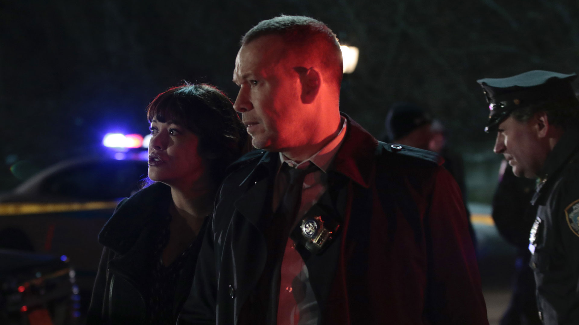 Marisa Ramirez as Detective Maria Baez and Donnie Wahlberg as Detective Danny Reagan