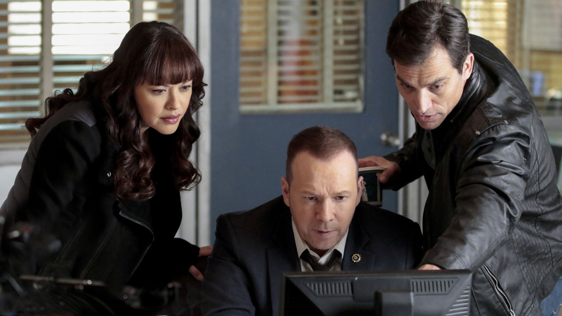 Marisa Ramirez as Detective Maria Baez, Donnie Wahlberg as Detective Danny Reagan, and Johnathon Schaech as Detective Jimmy Mosley