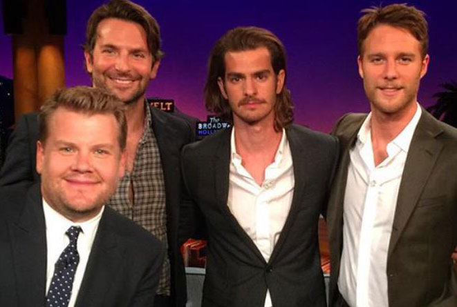 Bradley Cooper, Andrew Garfield and Jake McDorman