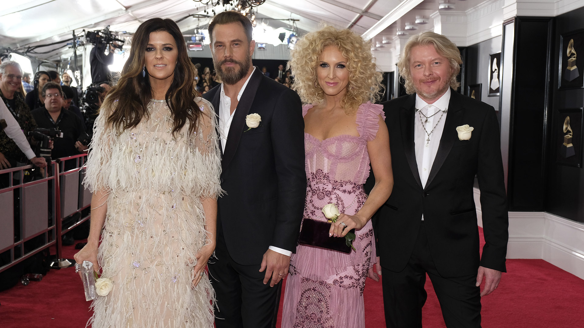 There's nothing small about Little Big Town's trend-setting fashion statement on the GRAMMY red carpet.