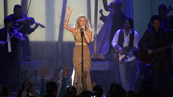 Carrie Underwood earned her 10th consecutive nomination for Female Vocalist of the Year.