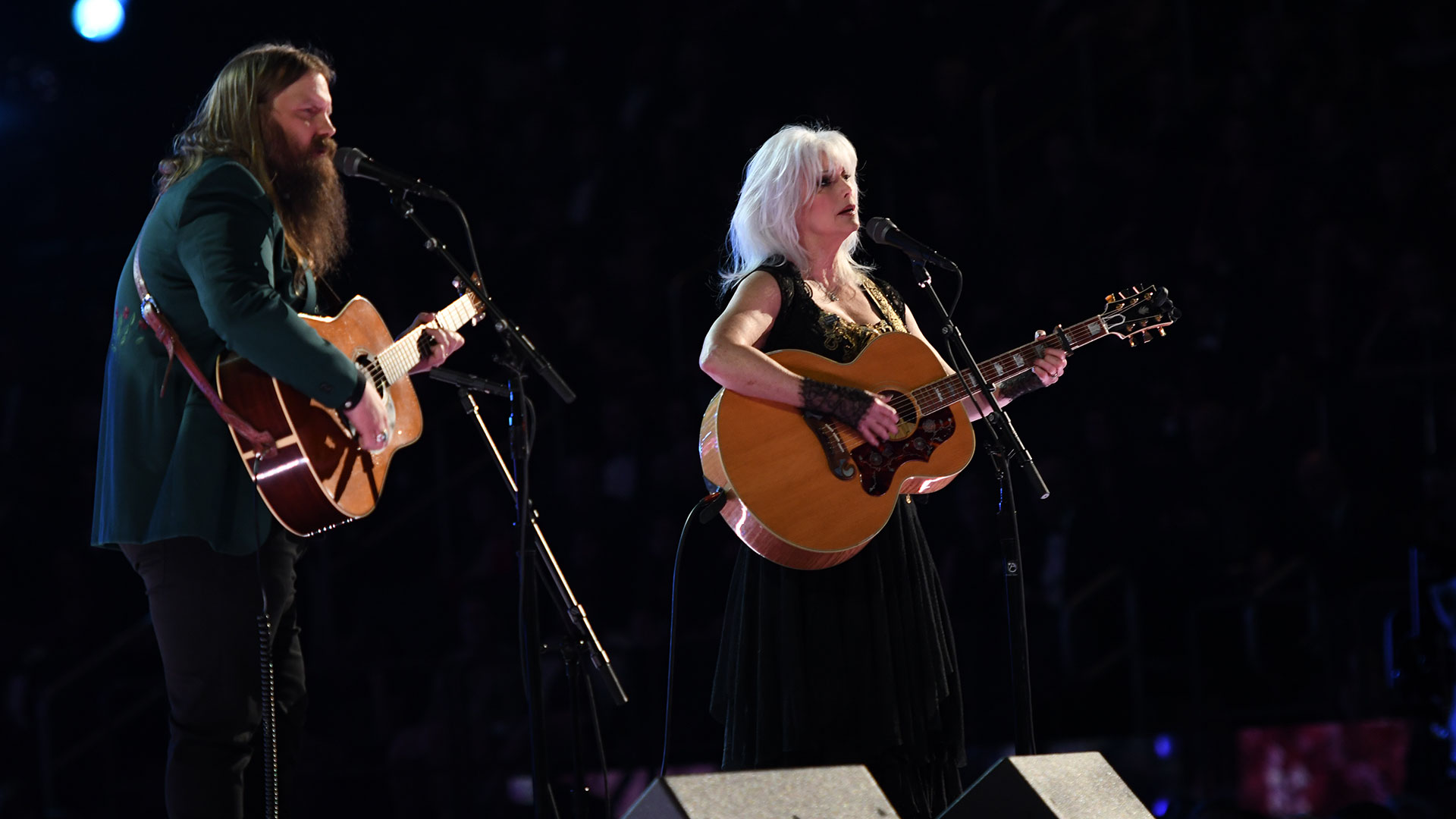 Emmylou Harris and Chris Stapleton pay tribute to the late rock legend Tom Petty with a beautiful acoustic cover of