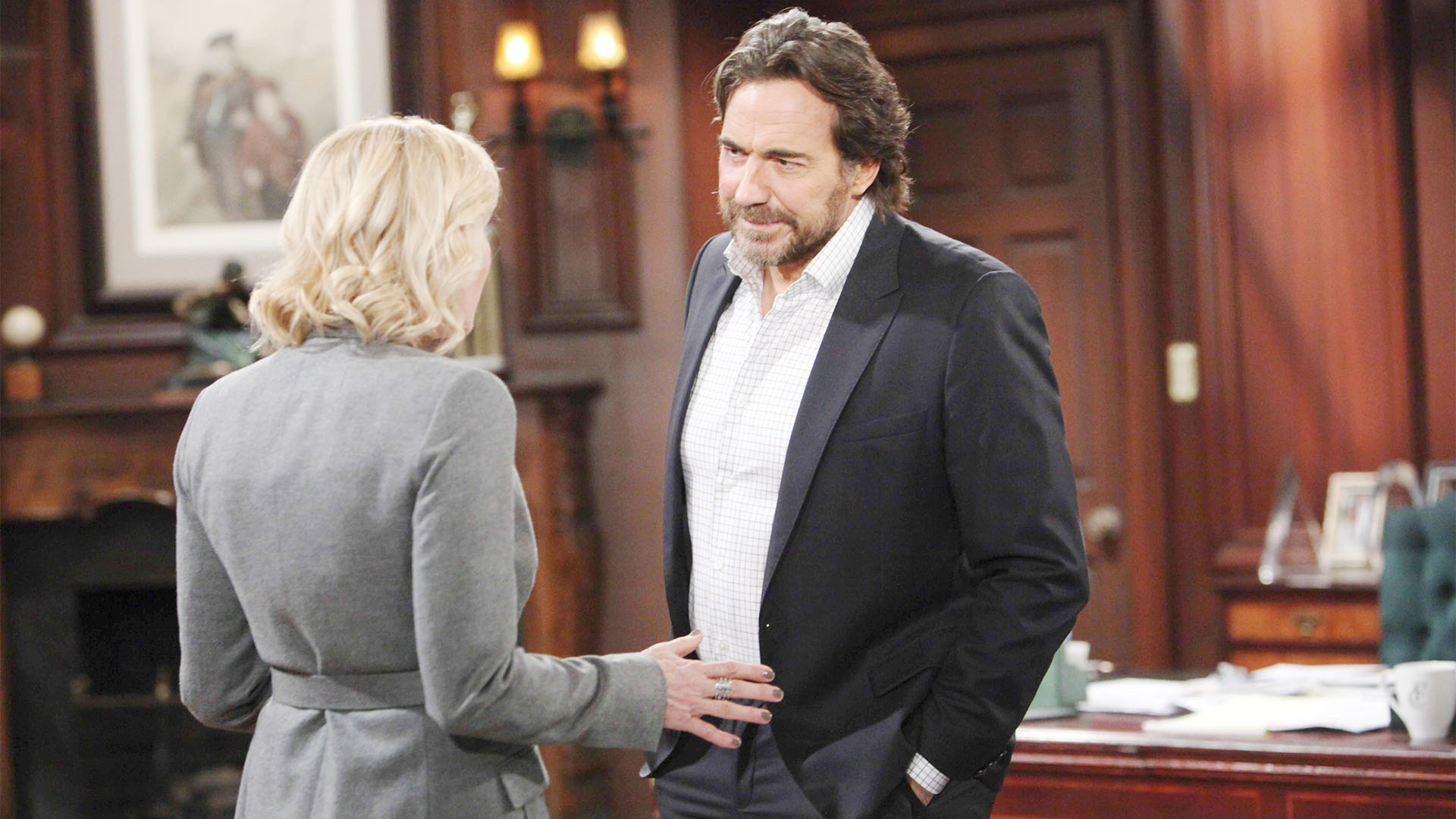 Ridge finds it difficult to hide his rage towards Bill from Brooke.