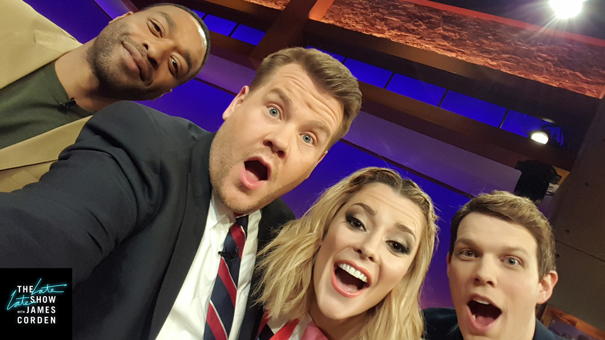 Chiwetel Ejiofor, Grace Helbig and Jake Lacy