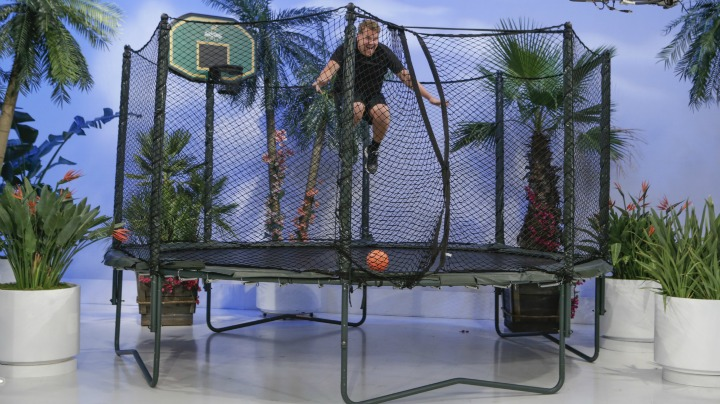 Corden takes modeling to new heights.
