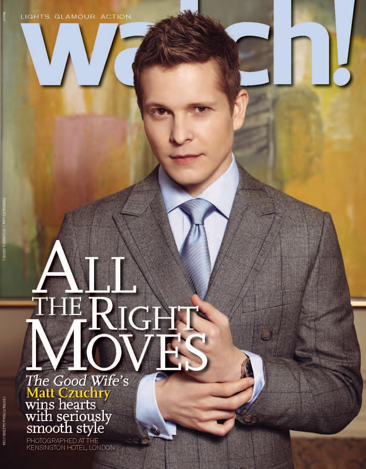 The Good Wife's Matt Czuchry Watch Magazine Cover