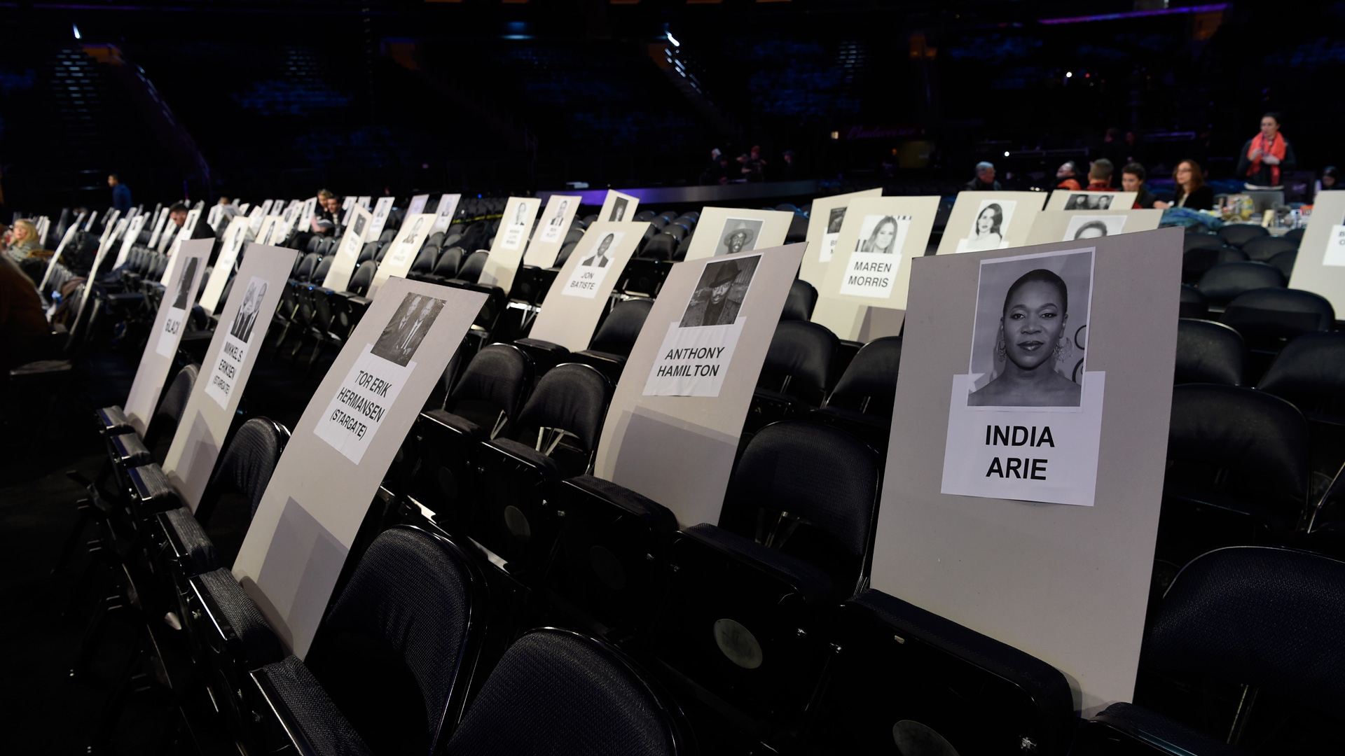 GRAMMY Award-winning artists India.Arie and Anthony Hamilton will be seated in this row together.